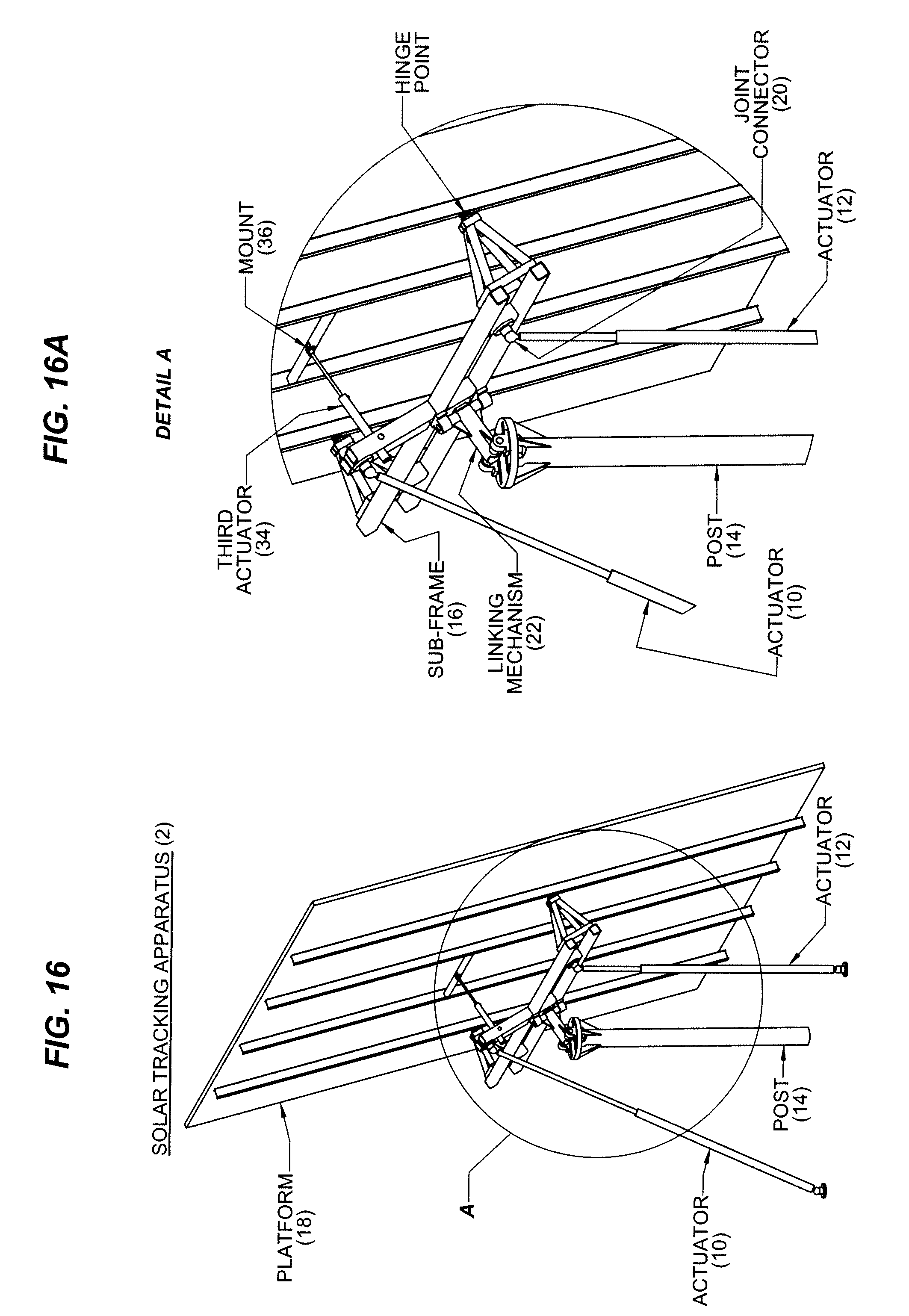 patent us20100180884 - actuated solar tracker