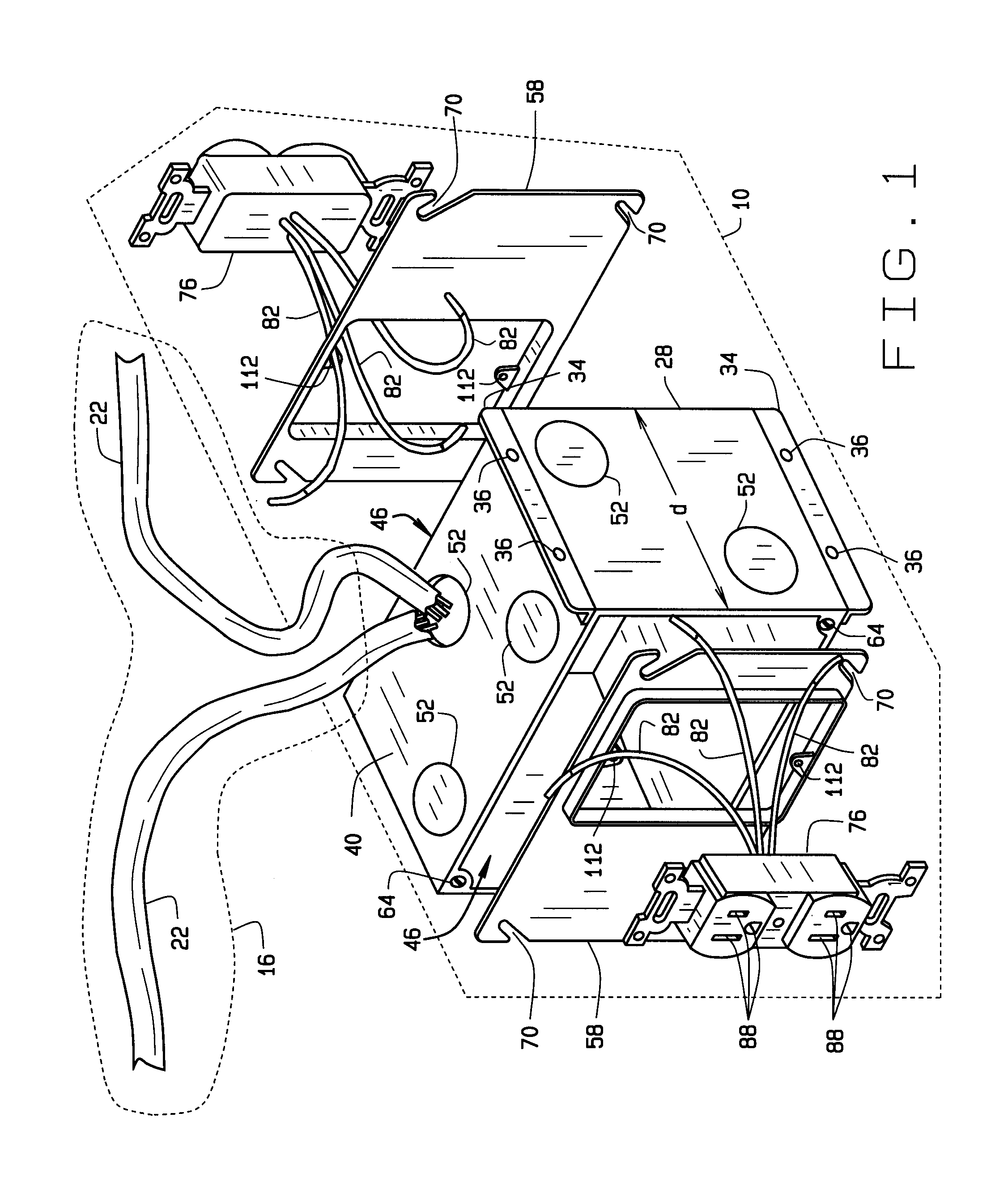 Patent Us20100240249 Electrical Wiring System Google Patents Typical Method For Receptacle Termination Using Pigtails Drawing