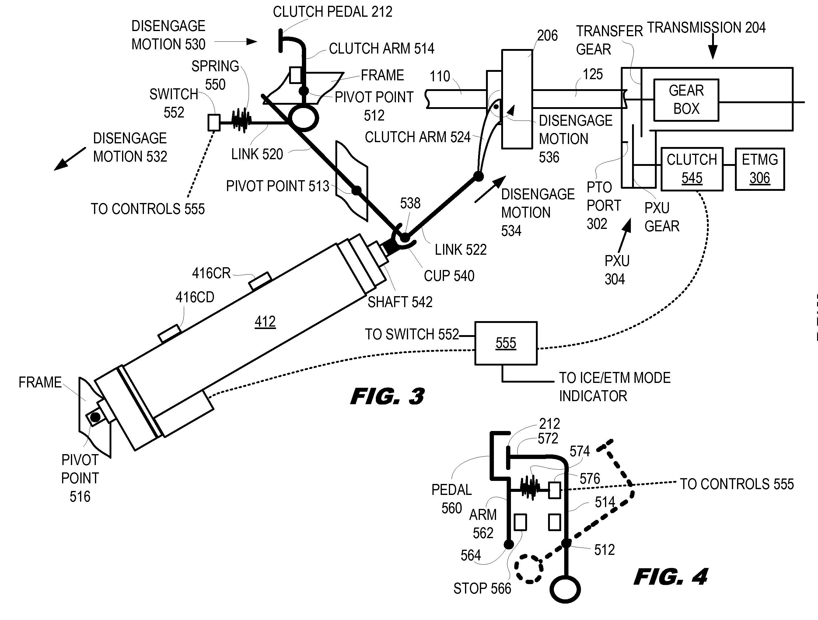 Patent Us20100255952 Dual Mode Clutch Pedal For Vehicle Google Where Is The Inertia Switch On 2015 Nissan Drawing