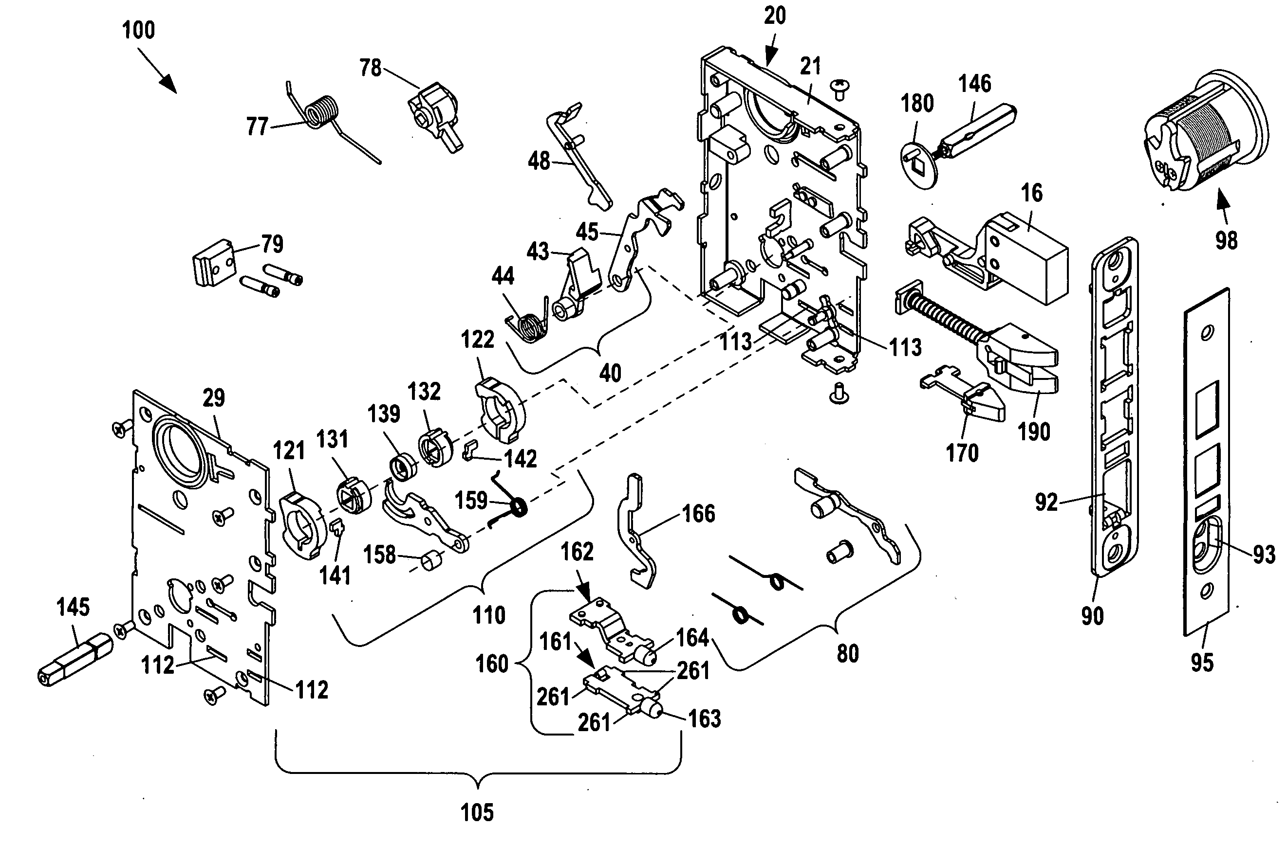 US20100263418 on yale mortise lock parts diagram