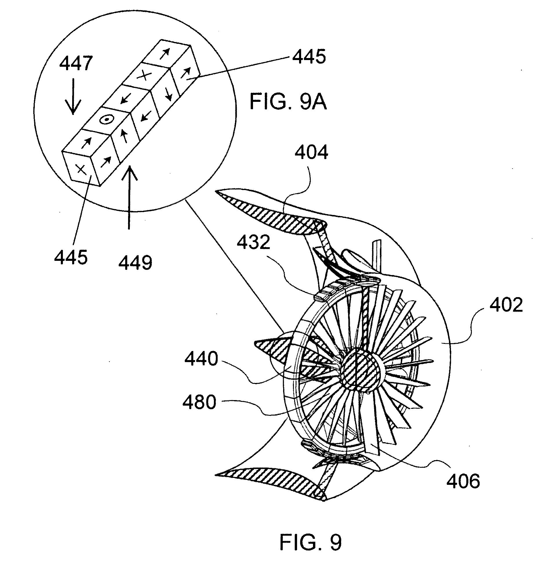 Patent us20100314885 shrouded wind turbine with rim for Halbach array motor generator