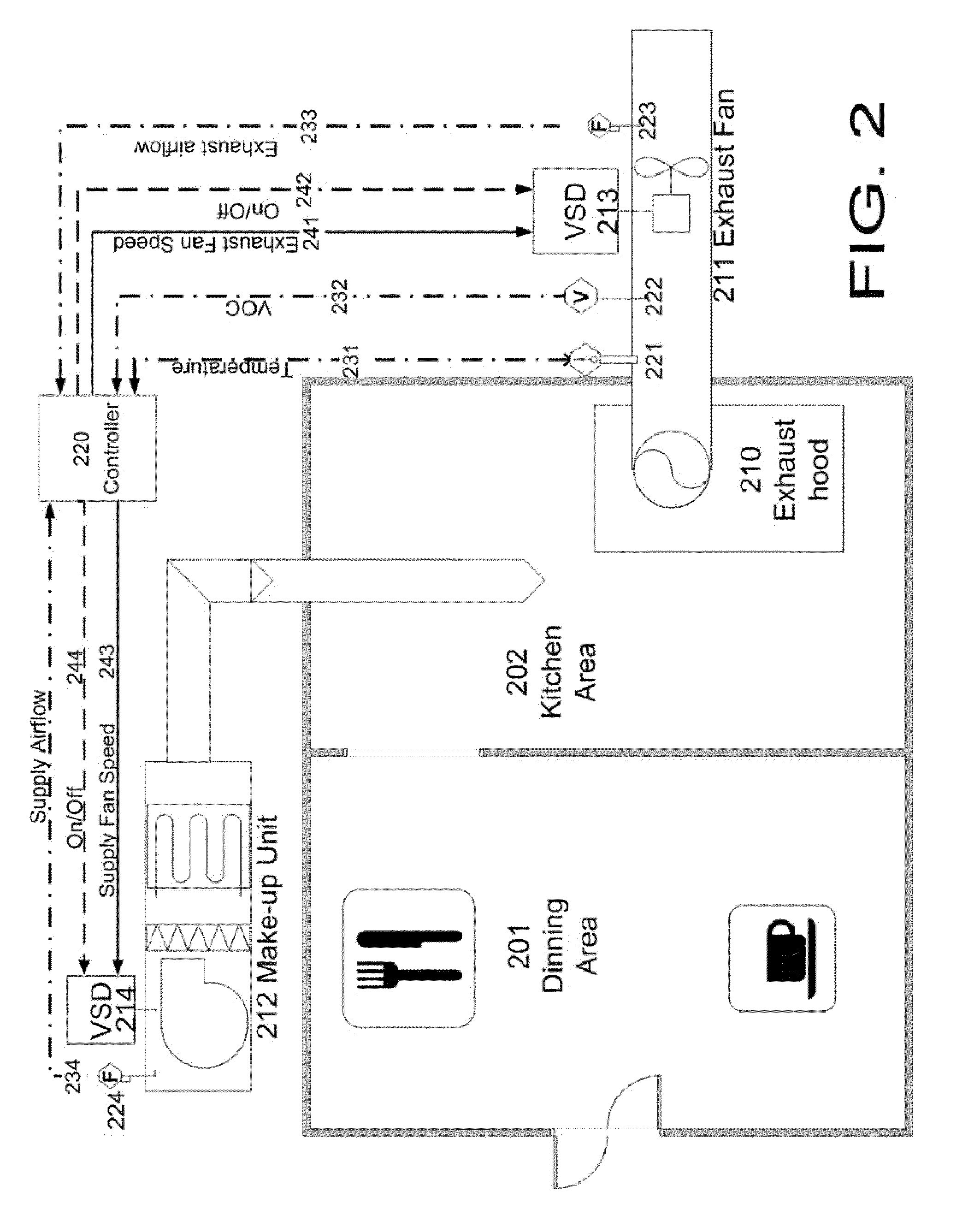 patent us kitchens exhaust hood and make up air patent drawing