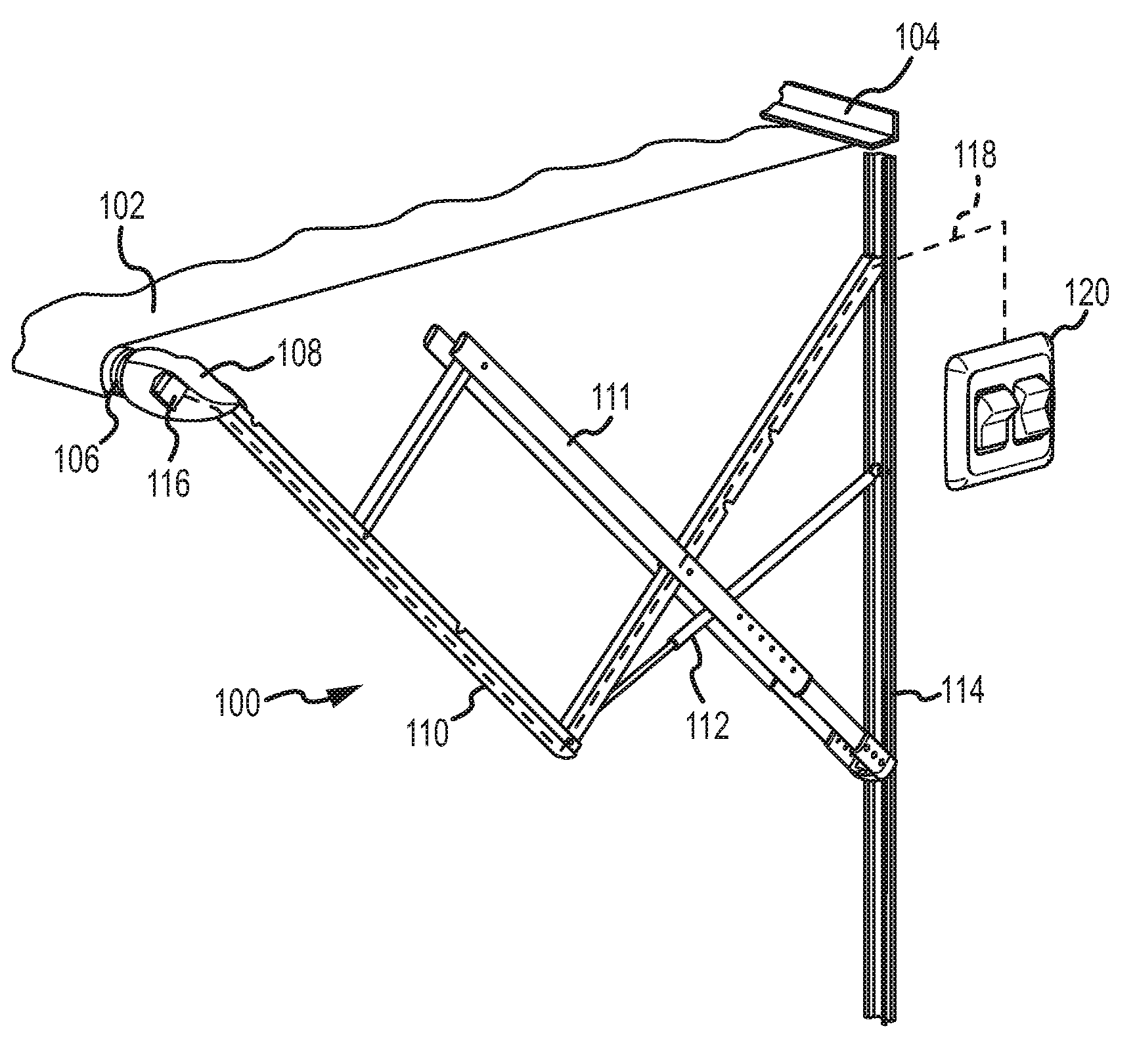 Patent Us20110048651 Awning Control With