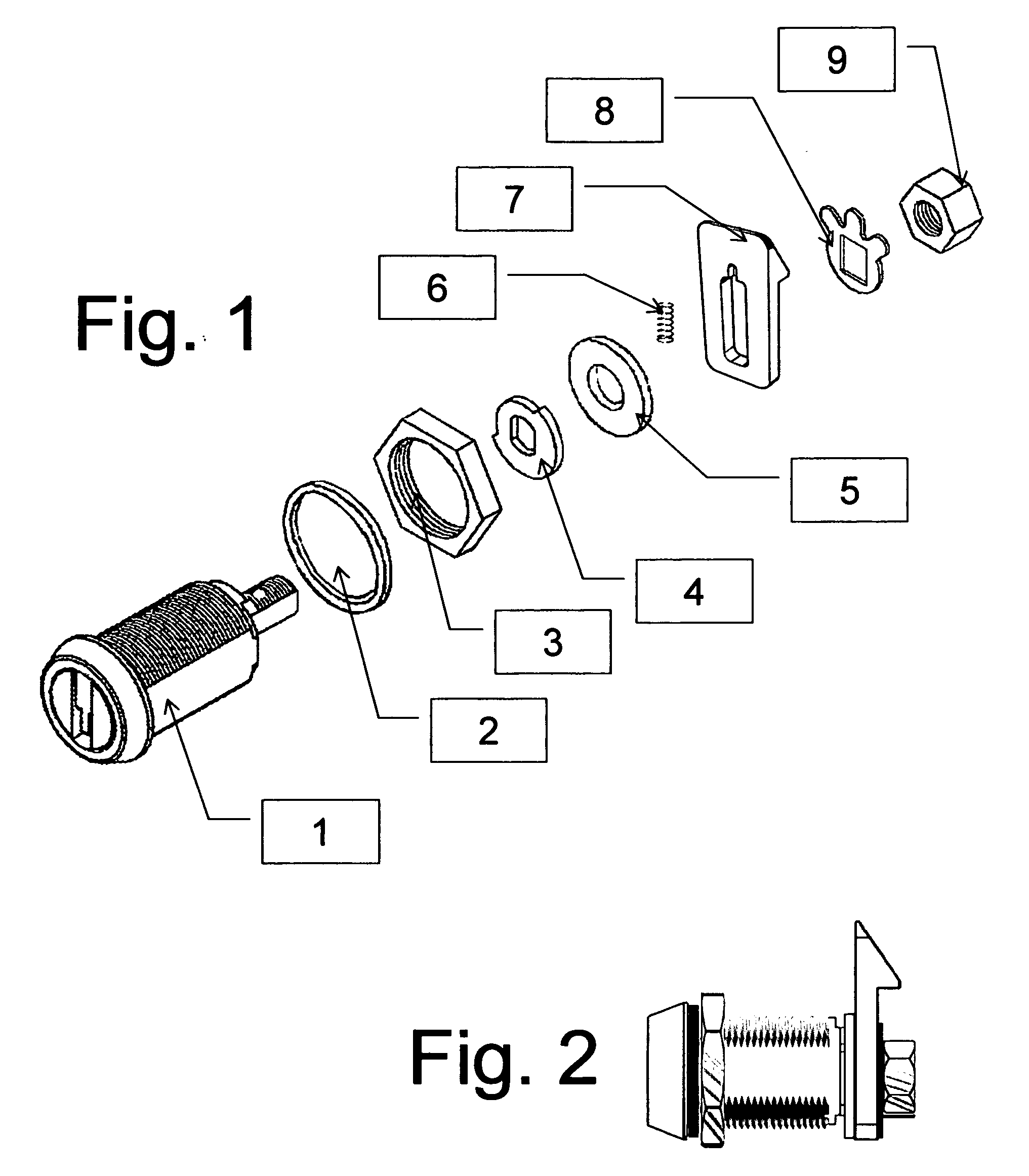 patent us20110056257 spring latch cam for a cam lock patents Wedge Lock Plug patent drawing