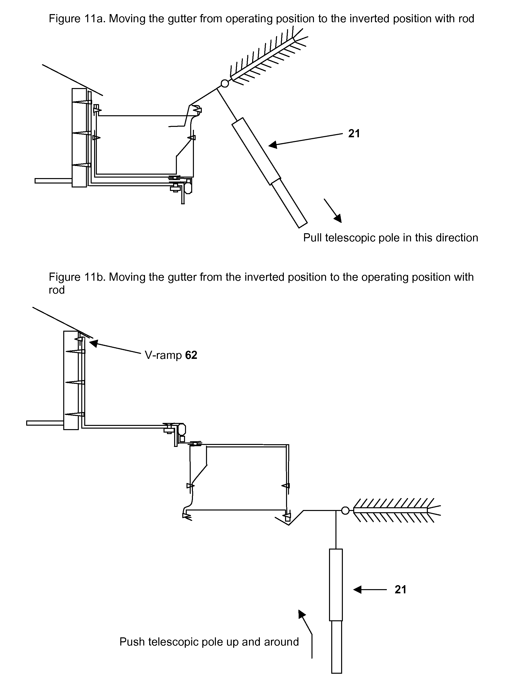 Patent Us20110067319 Rain Gutter Rotation System Rgrs