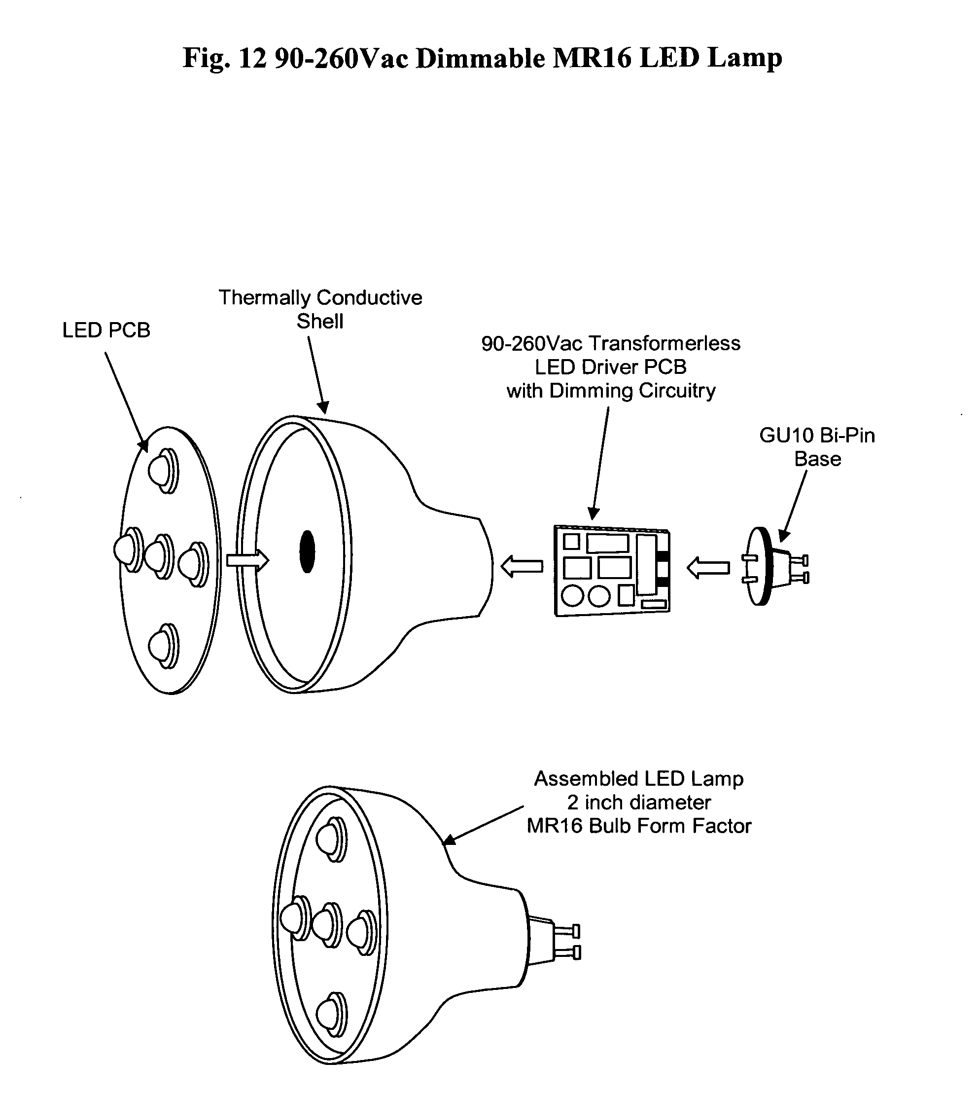 Led Mr16 Wiring Schematic Diagram Libraries Recessed Downlight Google Patents On In Downlights Patent Us20110068703 90 260vac Dimmable Lamp