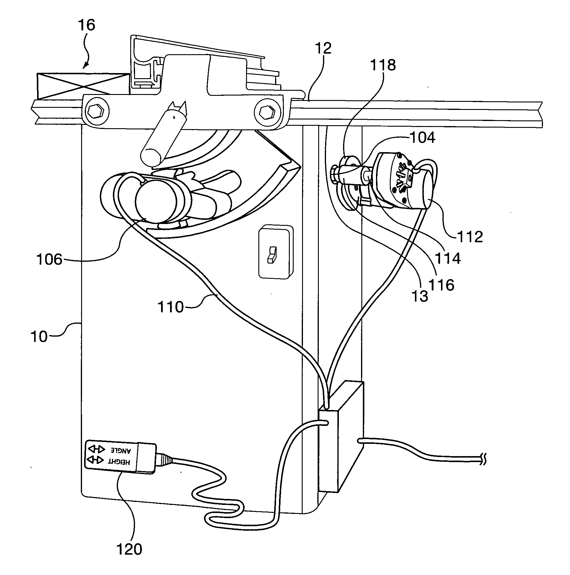 Patent Us20110100183 Table Saw Blade Height And Angle Adjustment Mechanism Google Patents
