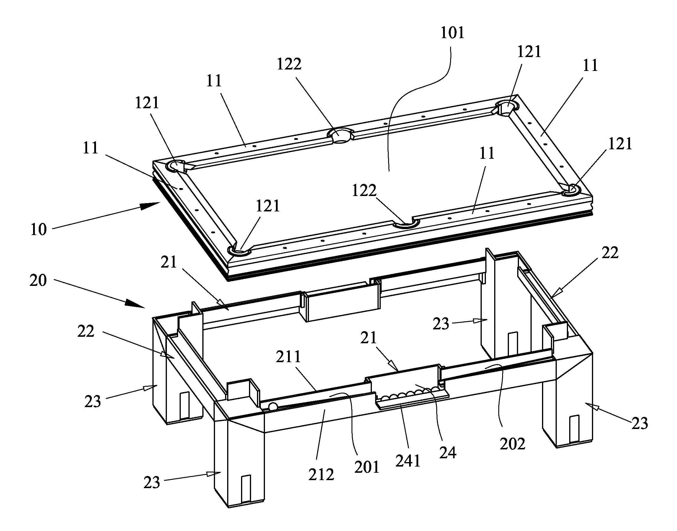 Patent Us20110143847 Pool Table Google Patents