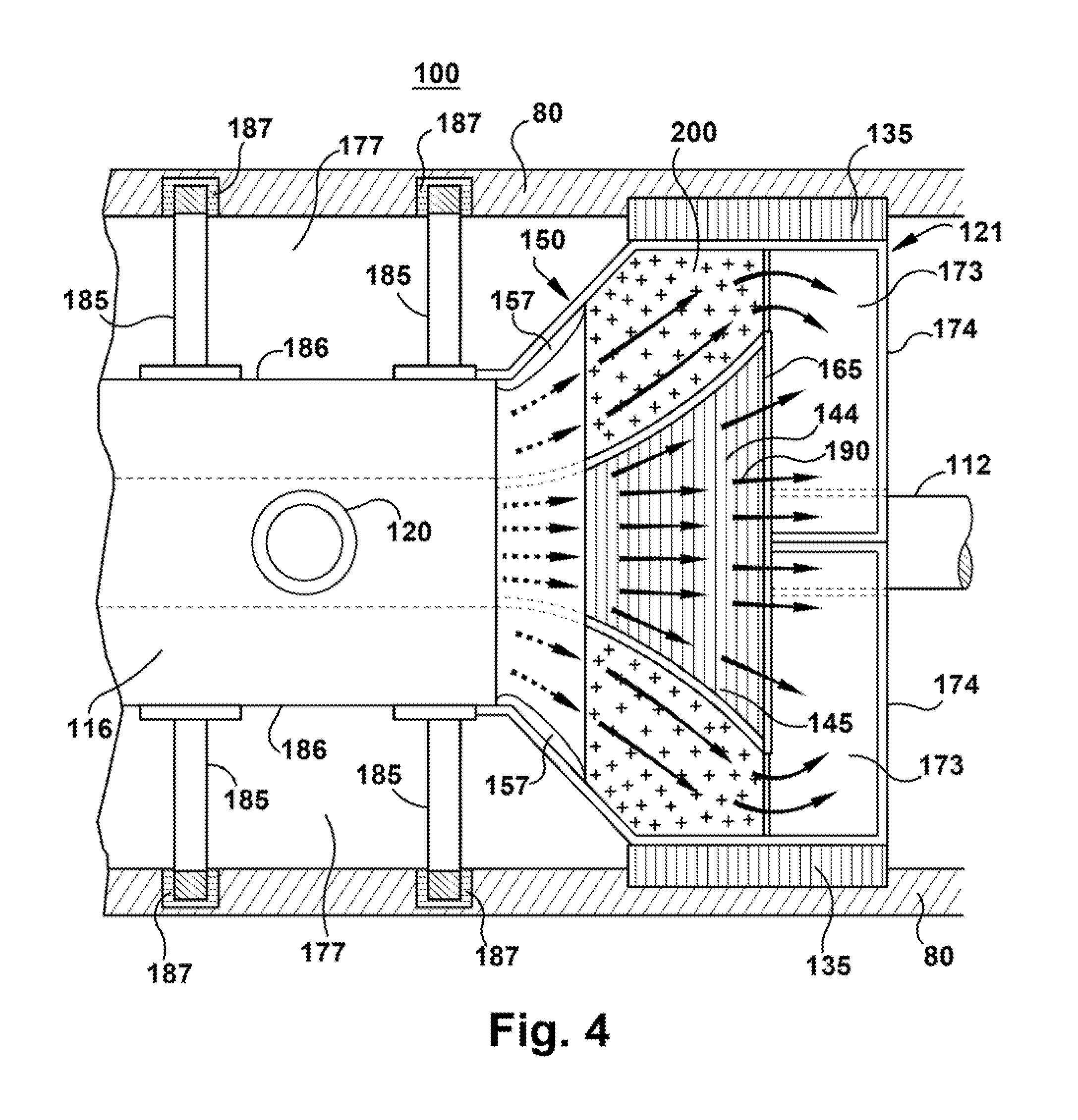 Patent US Radial channel diffuser for steam turbine