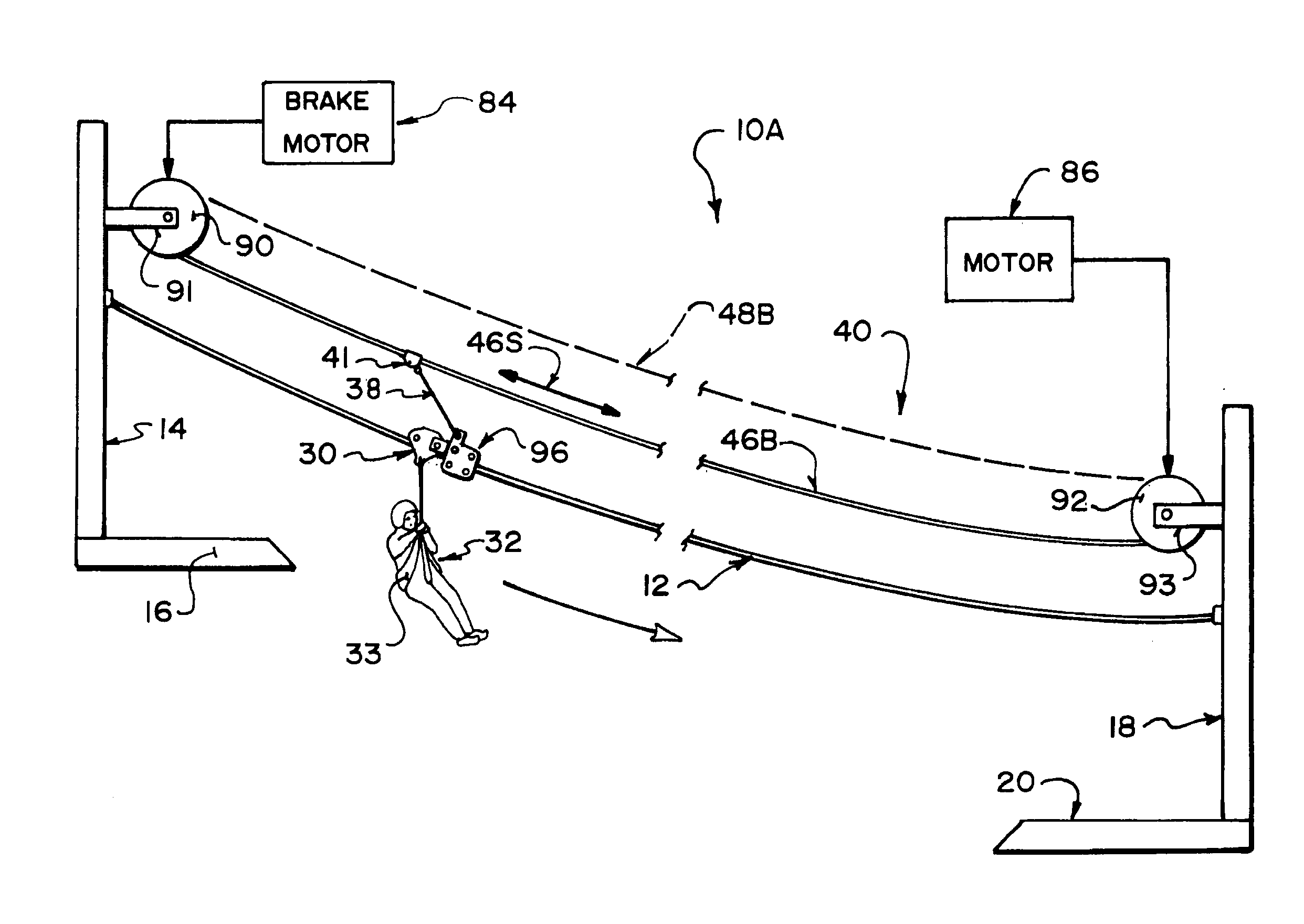 Drawing Lines With Zip : Patent us  continuous assist zipline braking