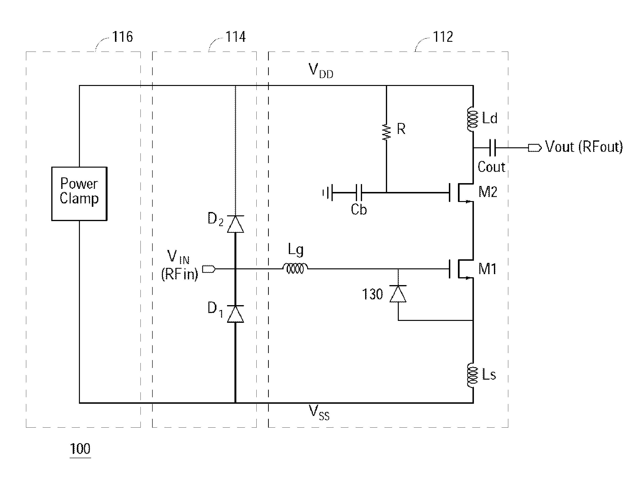 Patent Us20110286136 Esd Block With Shared Noise Optimization And Chip Stereo Player Integrated Circuit Diagram Amplifiercircuits Drawing