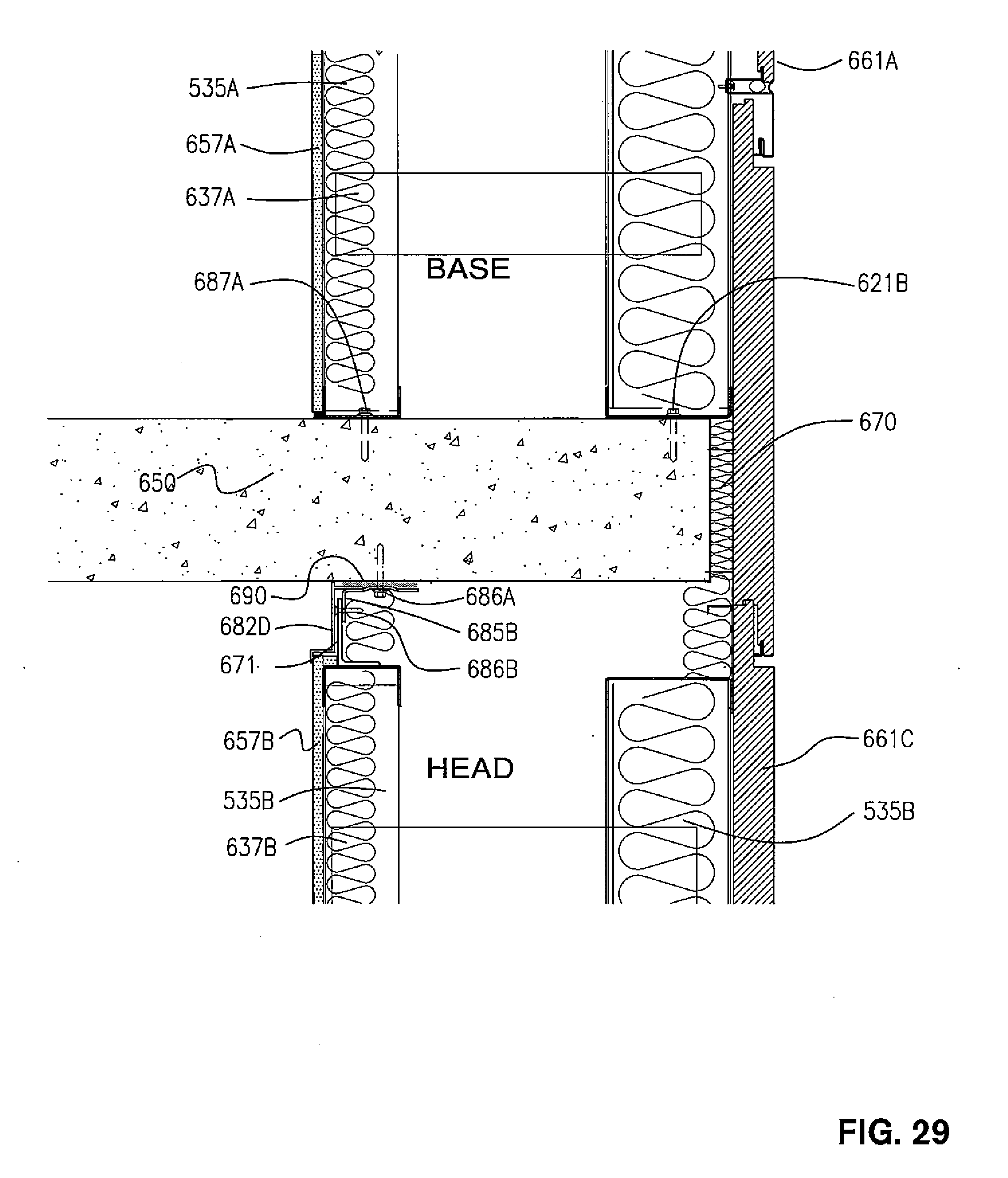 Fire Safing Details : Patent us  construction system and method for