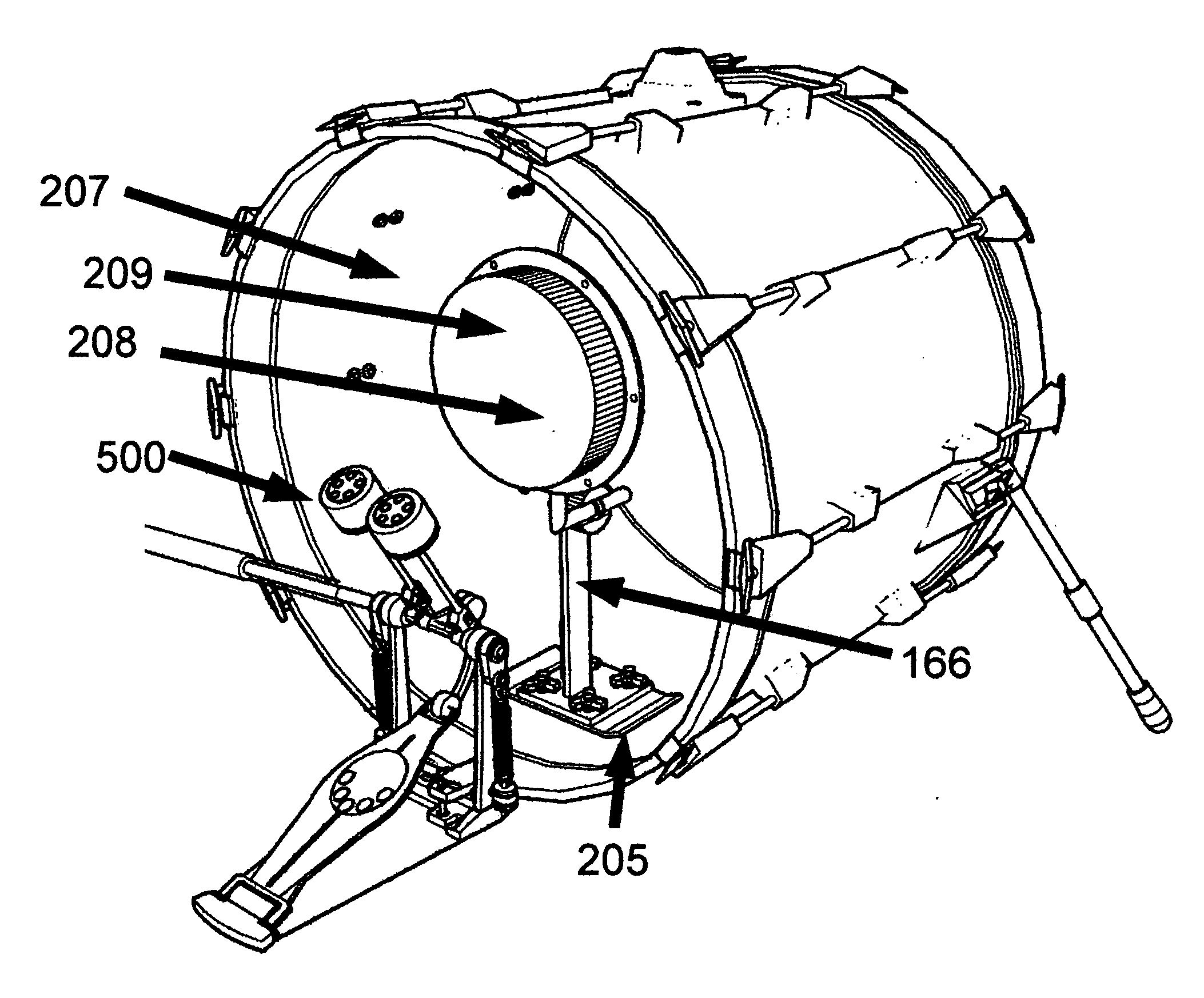 Patent US20120006178 - Universal drum pedal instrument ...
