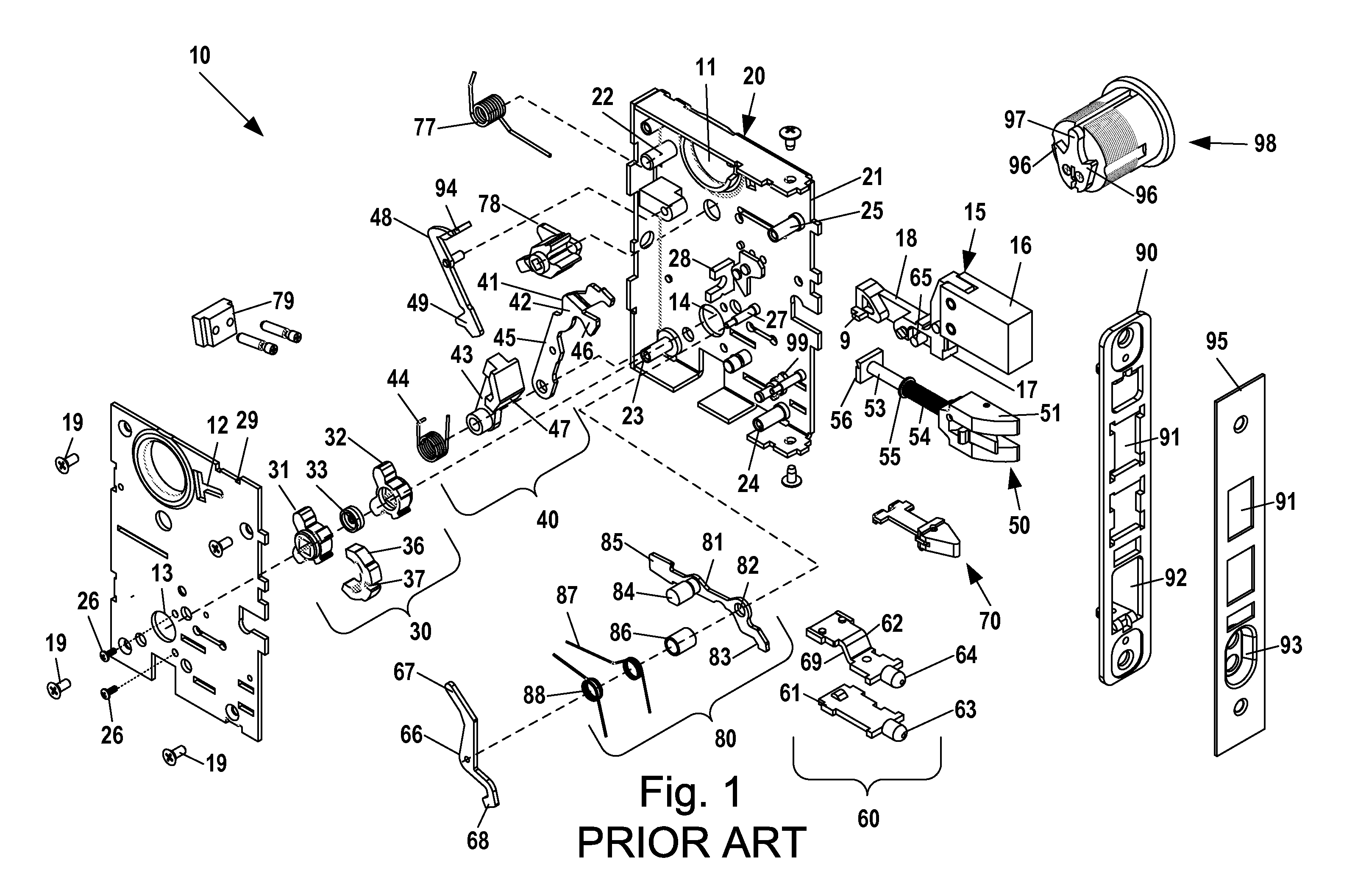 Mortise Lock Parts Diagram Schlage 9050 Mortise Lock Parts