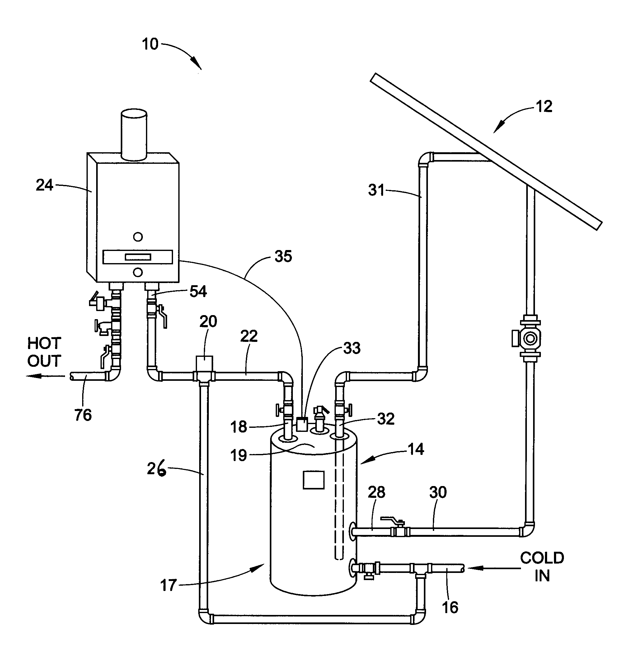 piping diagram for hot water storage tank water heater storage tank piping diagrams patent us20120060827 - control for a tankless water heater ... #4