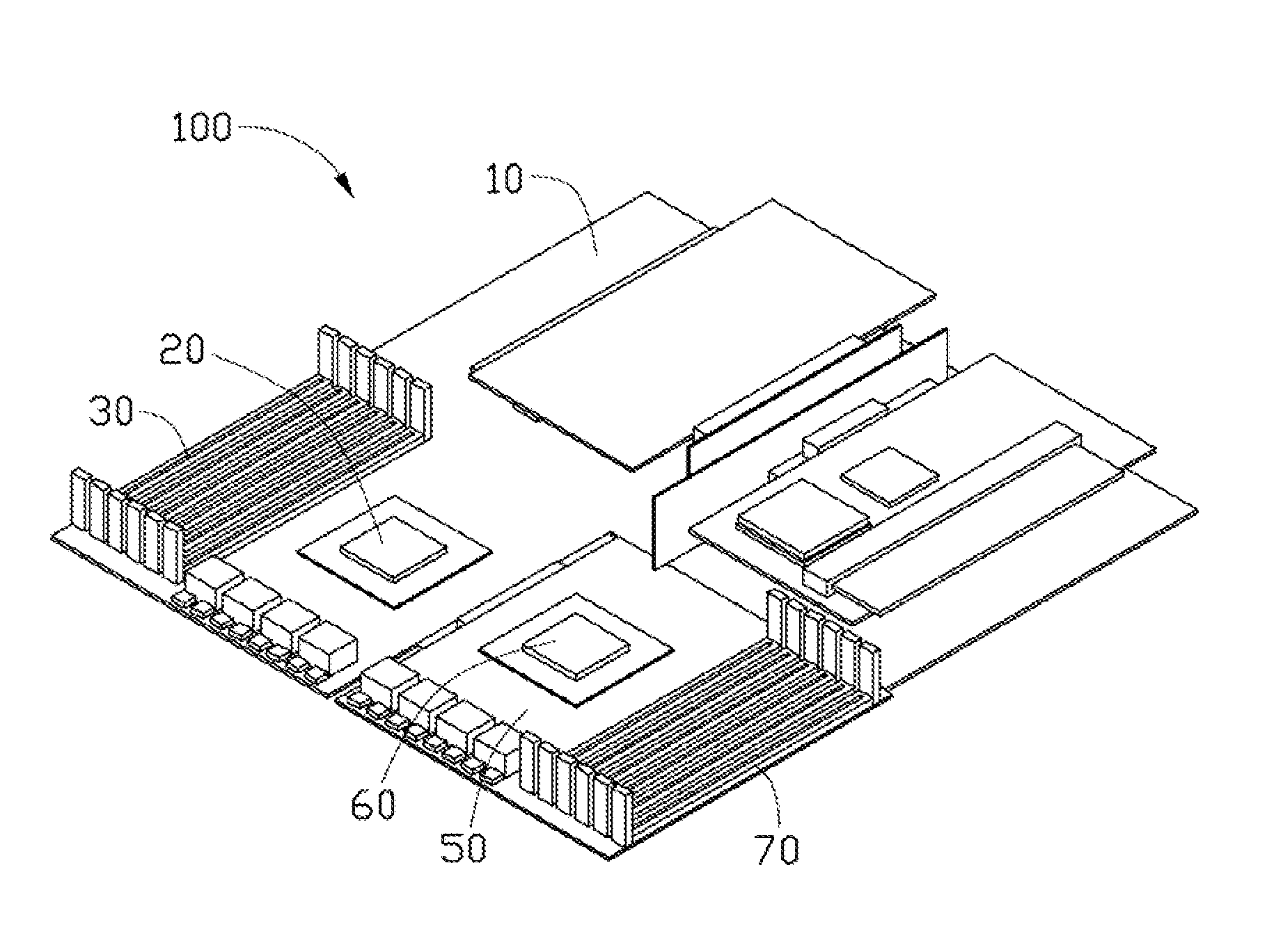 Motherboard Drawing: Patent US20120069510