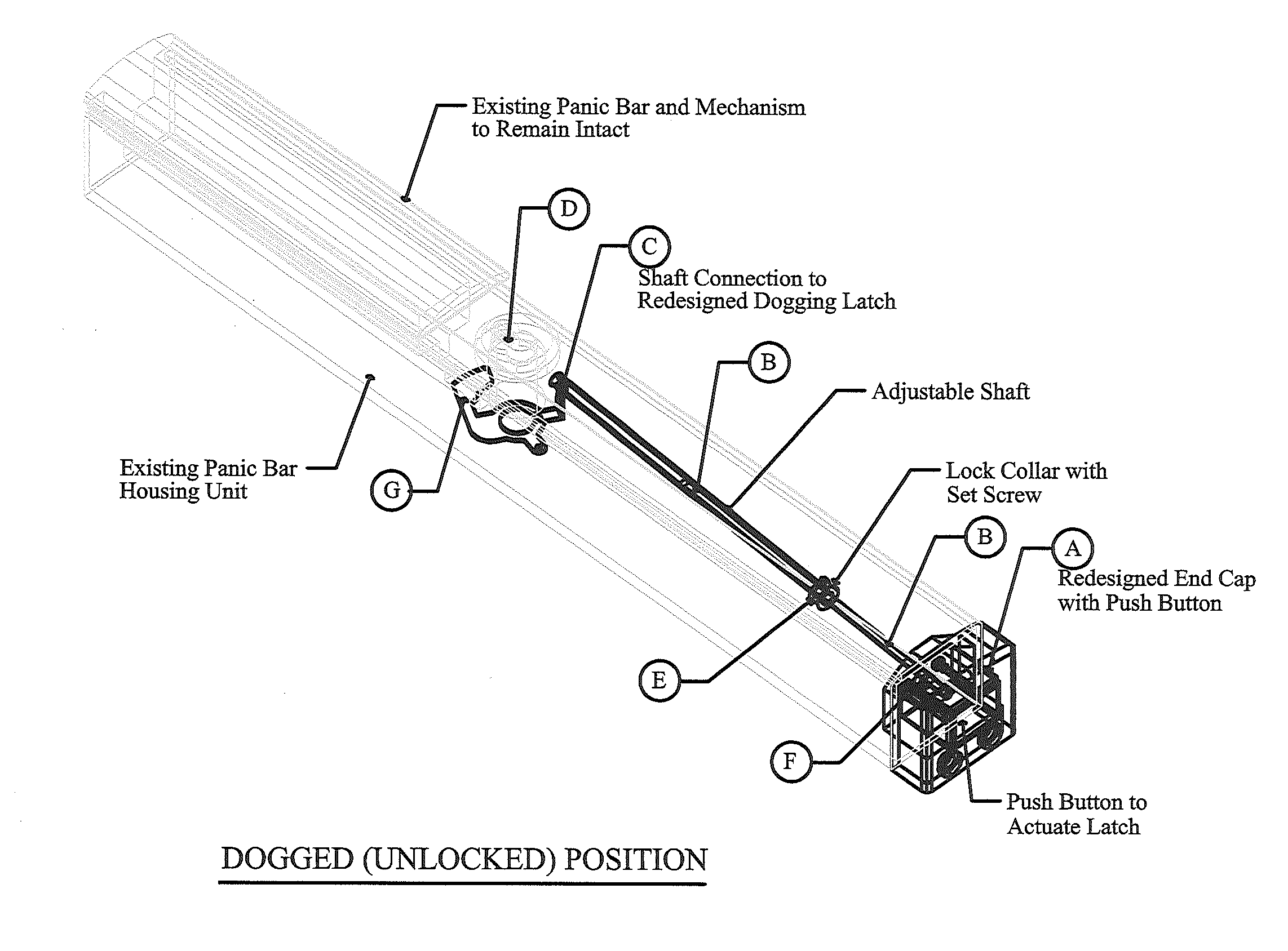 Patent Us20120133156 Panic Hardware Dogging Release
