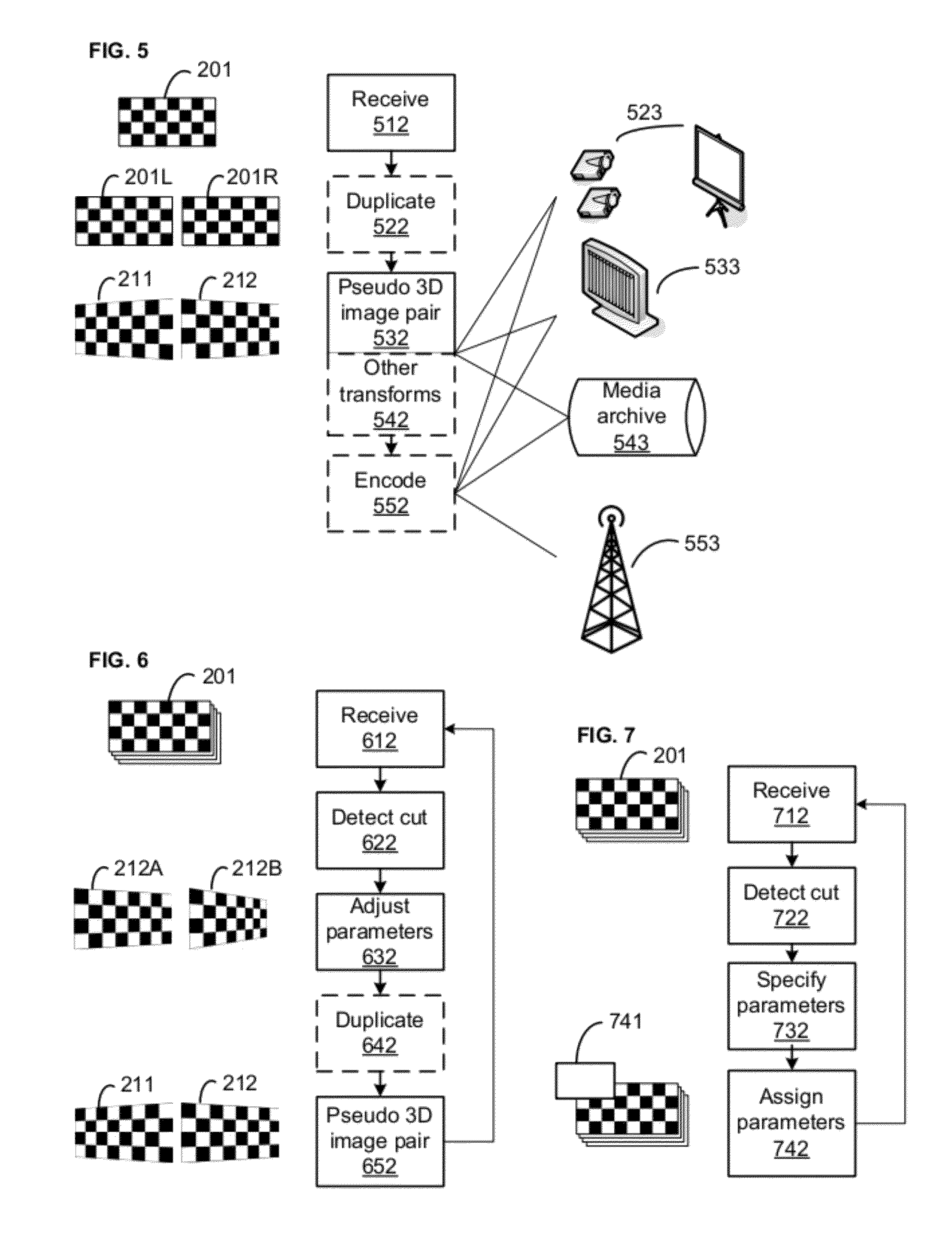 patent us20120140027 - pseudo-3d forced perspective methods and