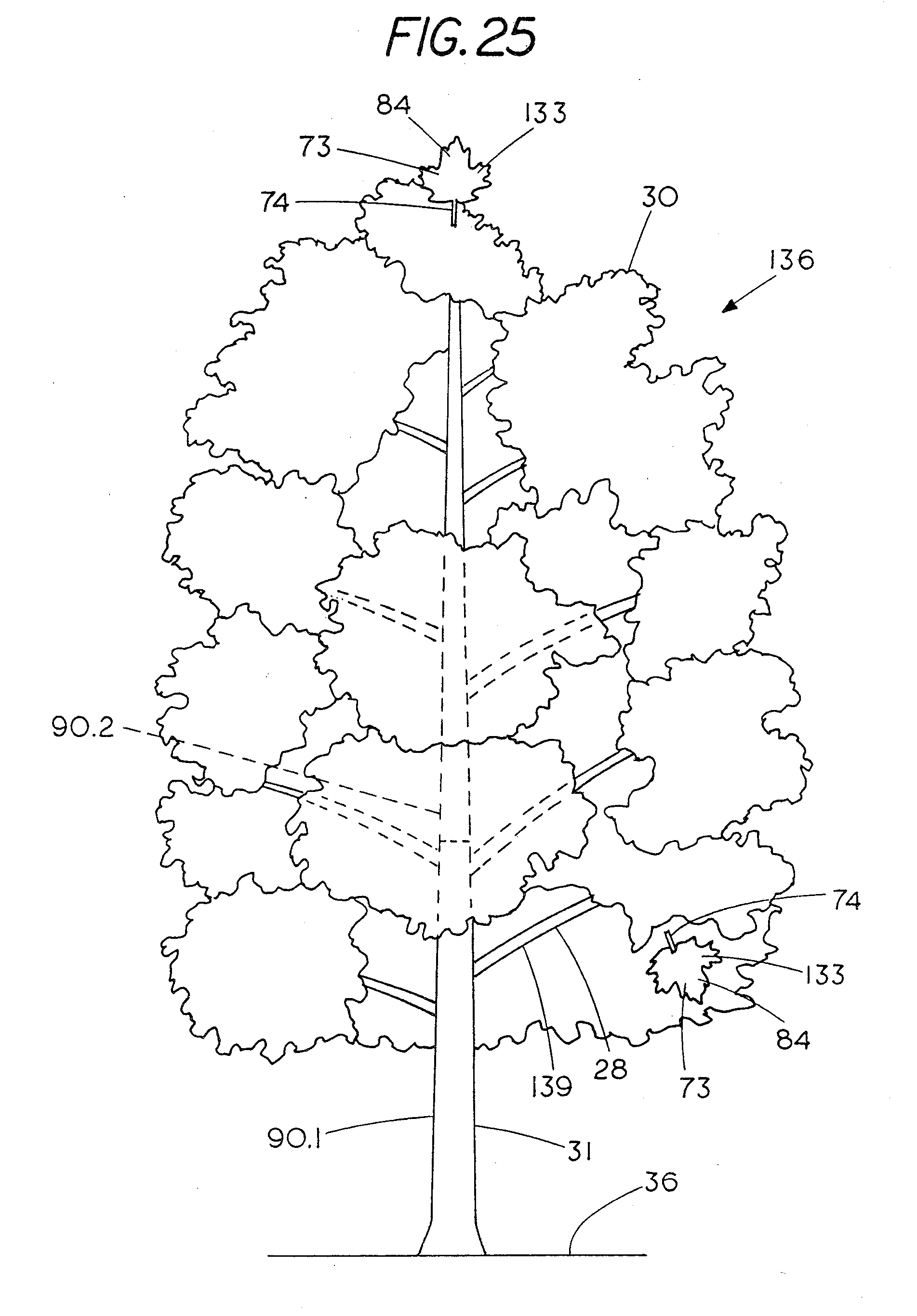 patent us20120181973 solar array resembling natural foliage Solar Road Ways patent drawing