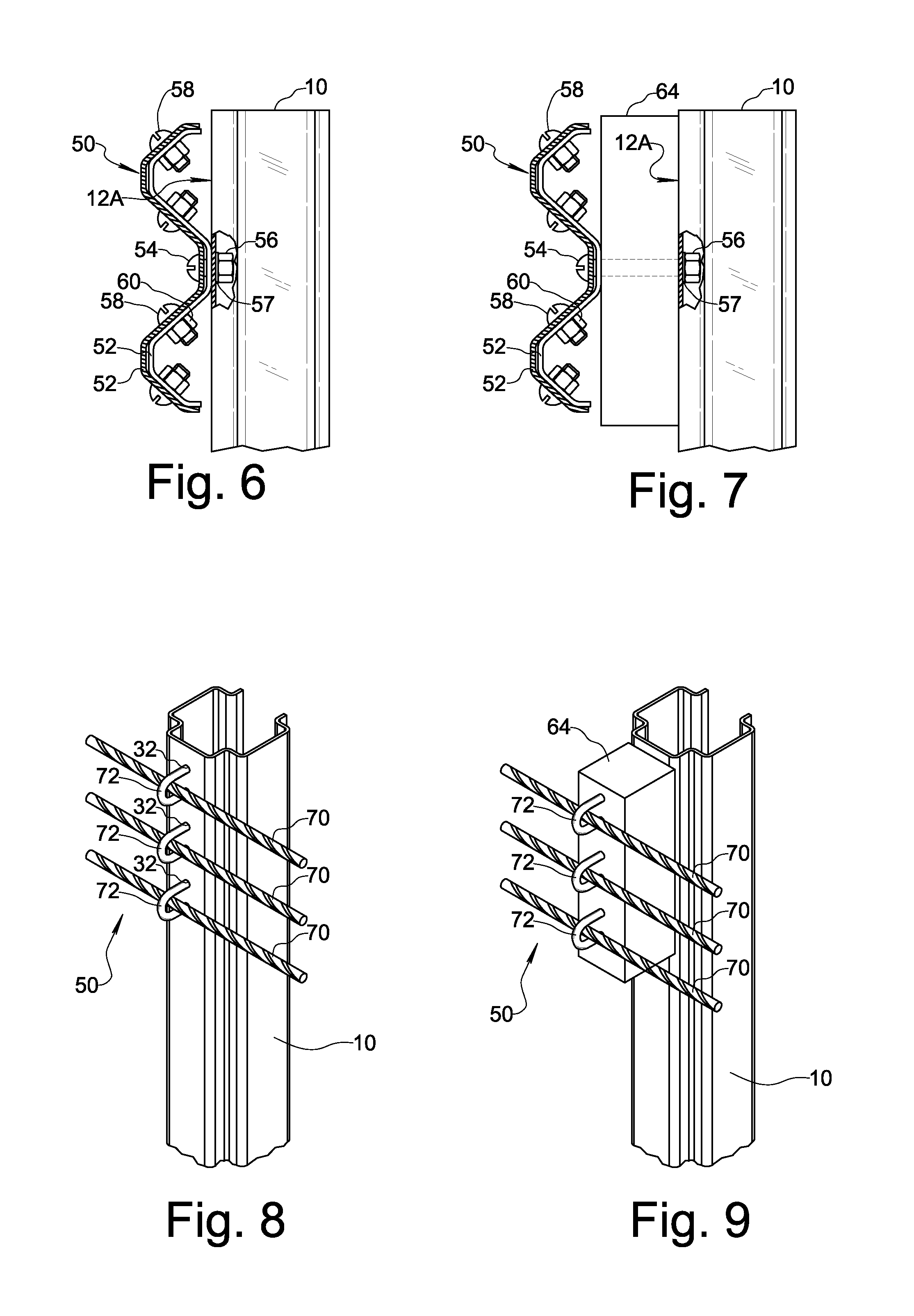Patent us  highway guardrail post google patents