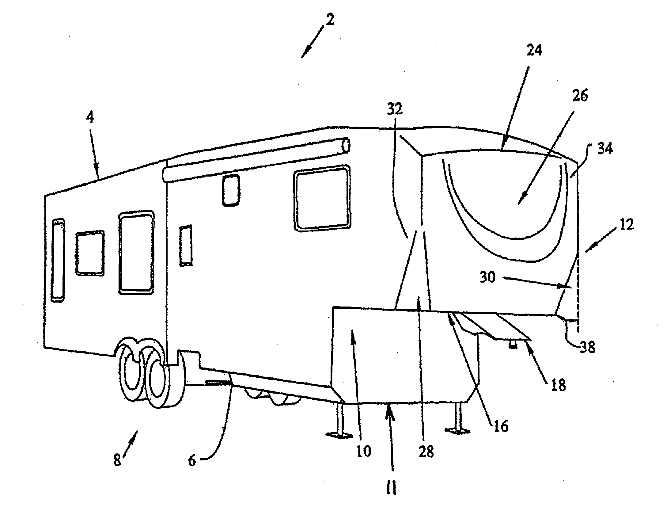 Fifth Wheel Camper Trailer Drawings Sketch Coloring Page