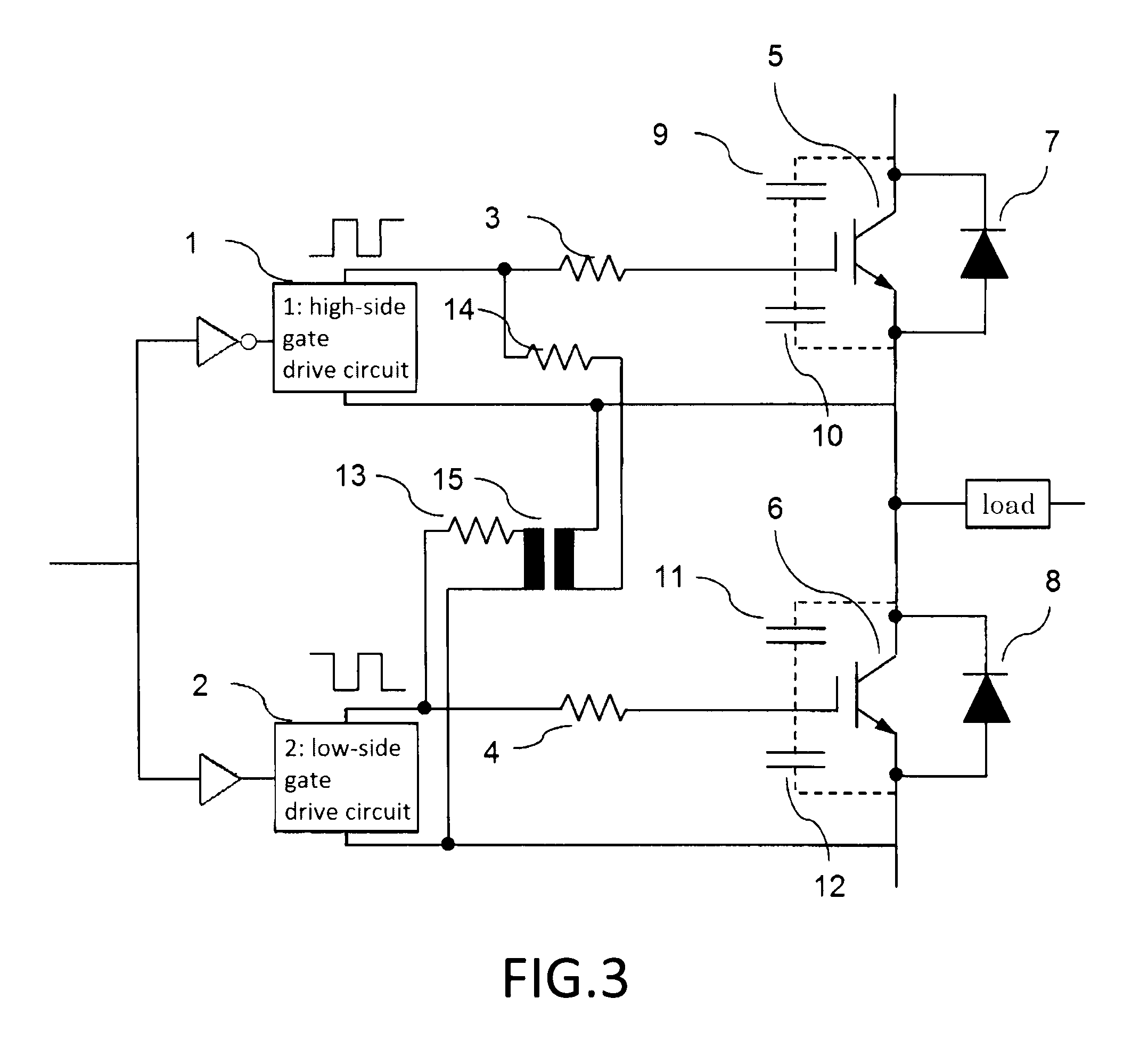 Patent Us20120229200 Gate Drive Circuit And Power Semiconductor Polarity Switch Element14 Drawing