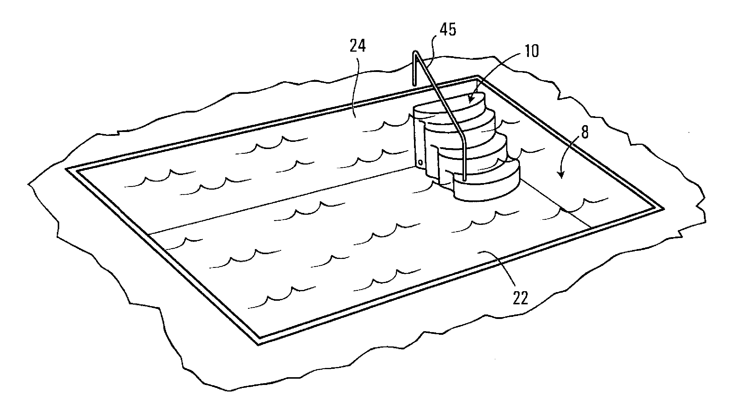 Patent us20120233937 anchoring system for swimming pool for Pool design drawings