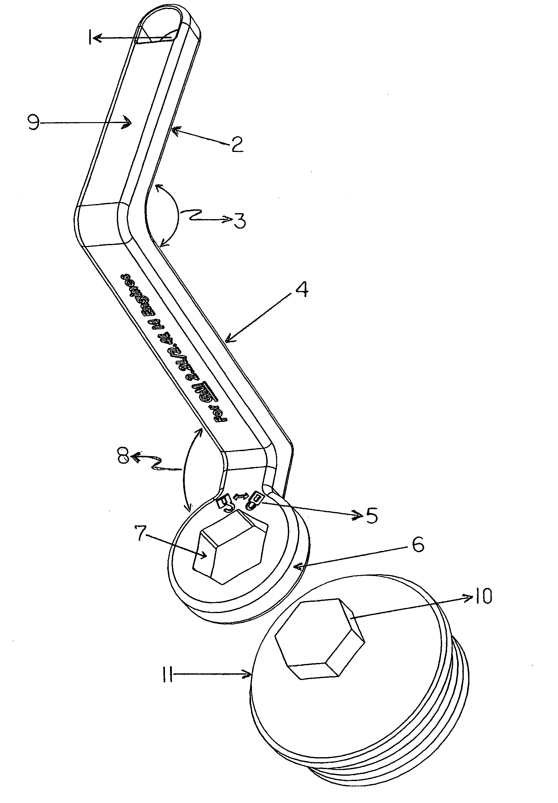 Patent Us20120255399 Angular Oil Filter Cartridge Wrench