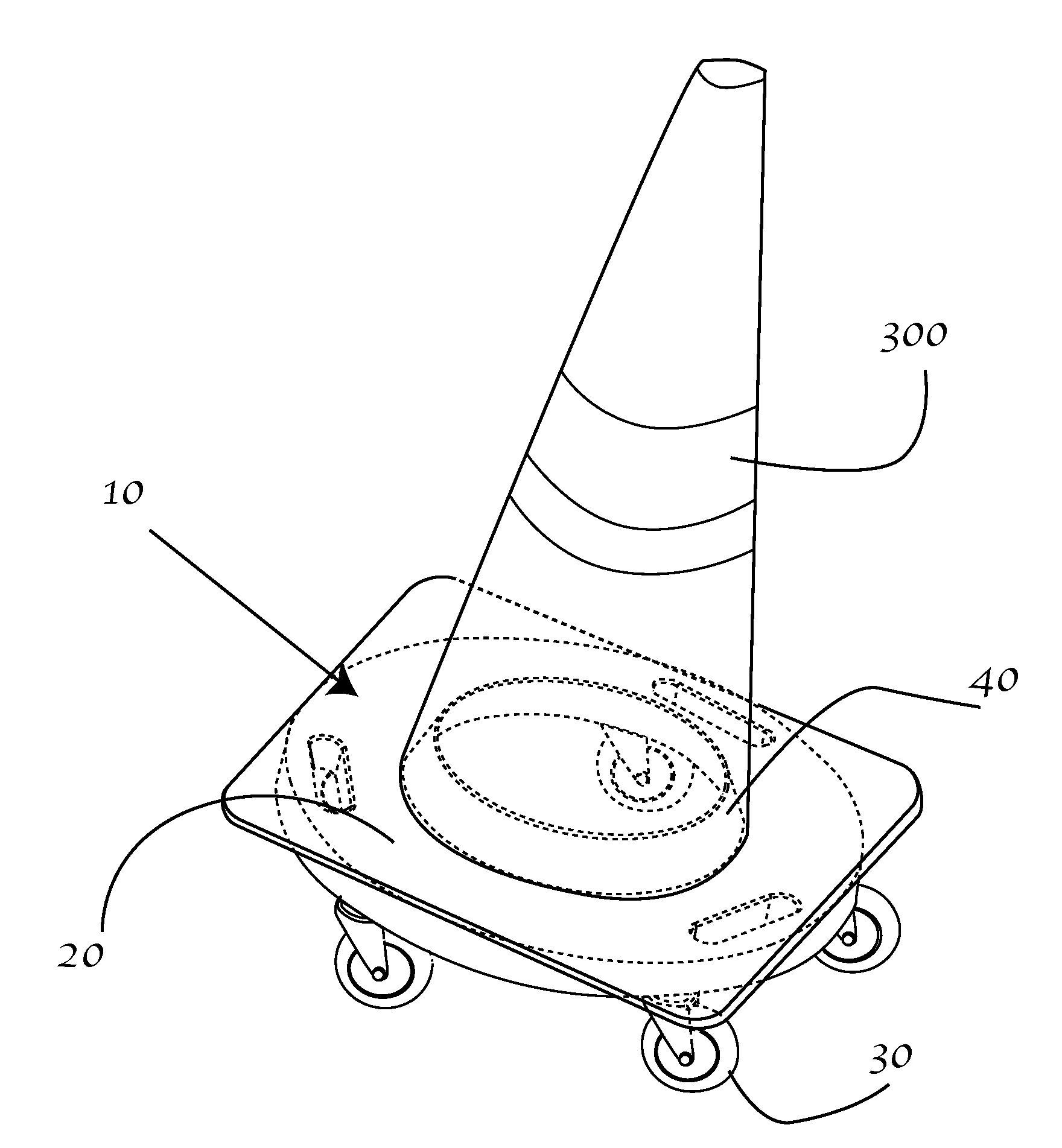 Pontiac Aztek Wiring Patente Us20120256385 Traffic Cone Dolly Google Patentes Patent Drawing