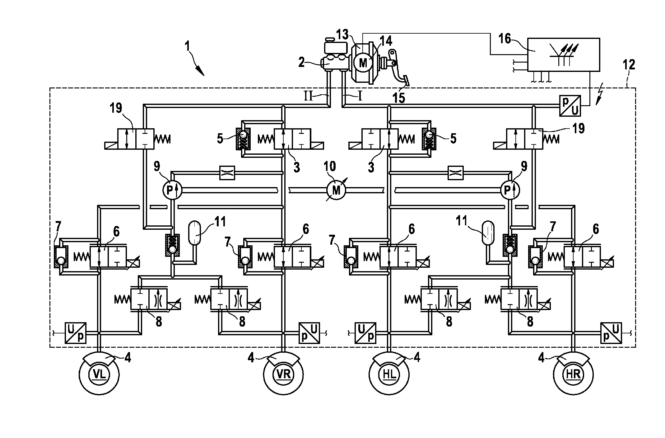 Patent Us20120256480 Method For Actuating A Hydraulic