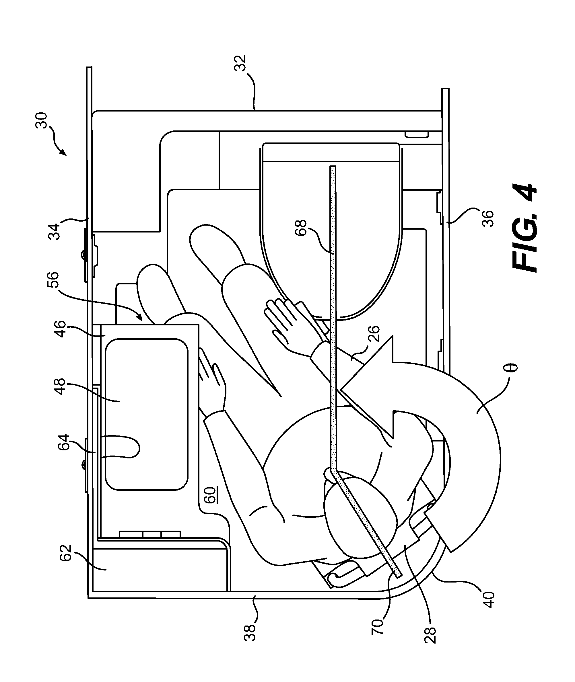 Patent US20120261509 - Aircraft lavatory for a person with ...