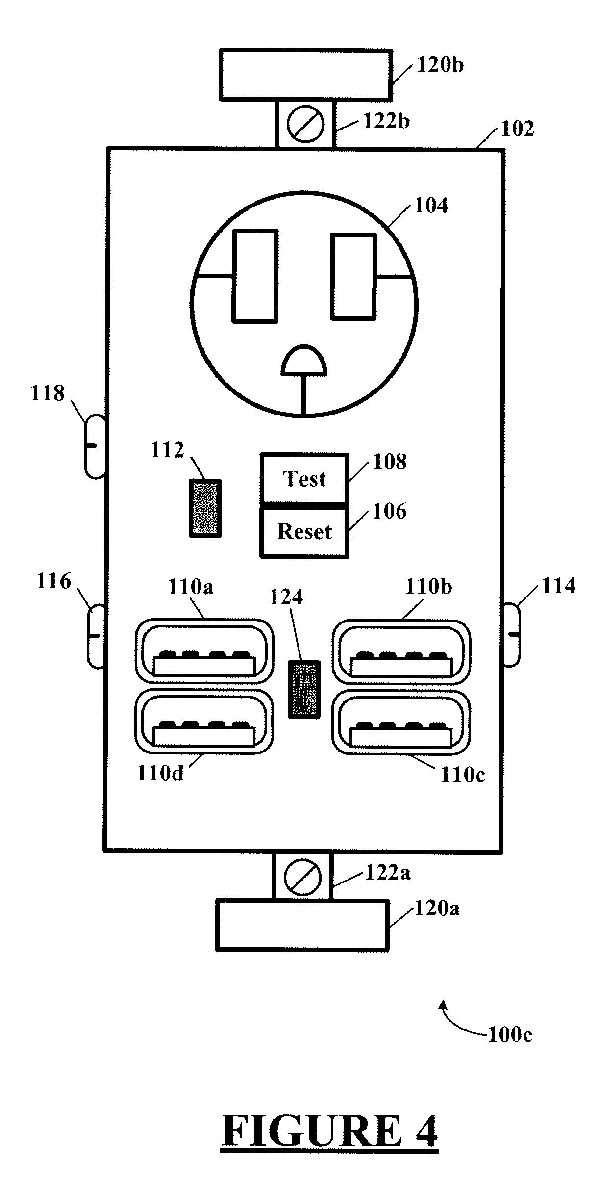 patent us20120292991  afci receptacle