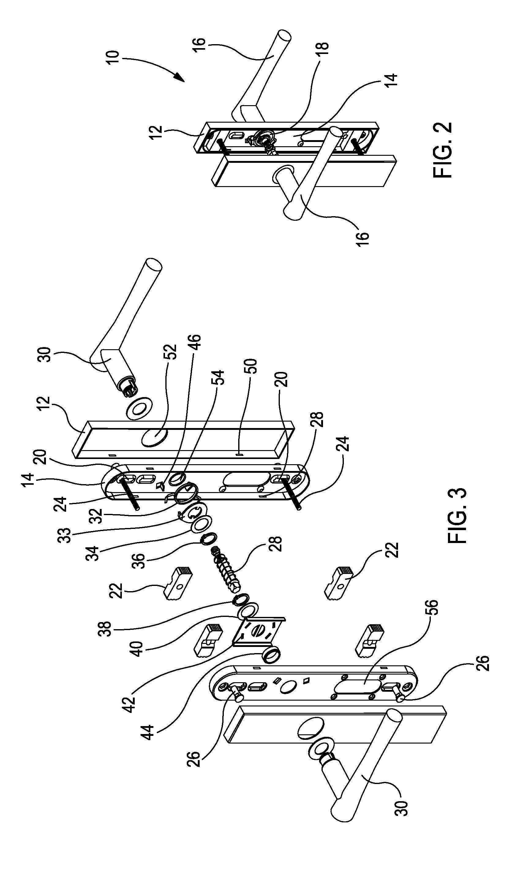 Patent Us20130056612 Universal Multipoint Lock Lever Set