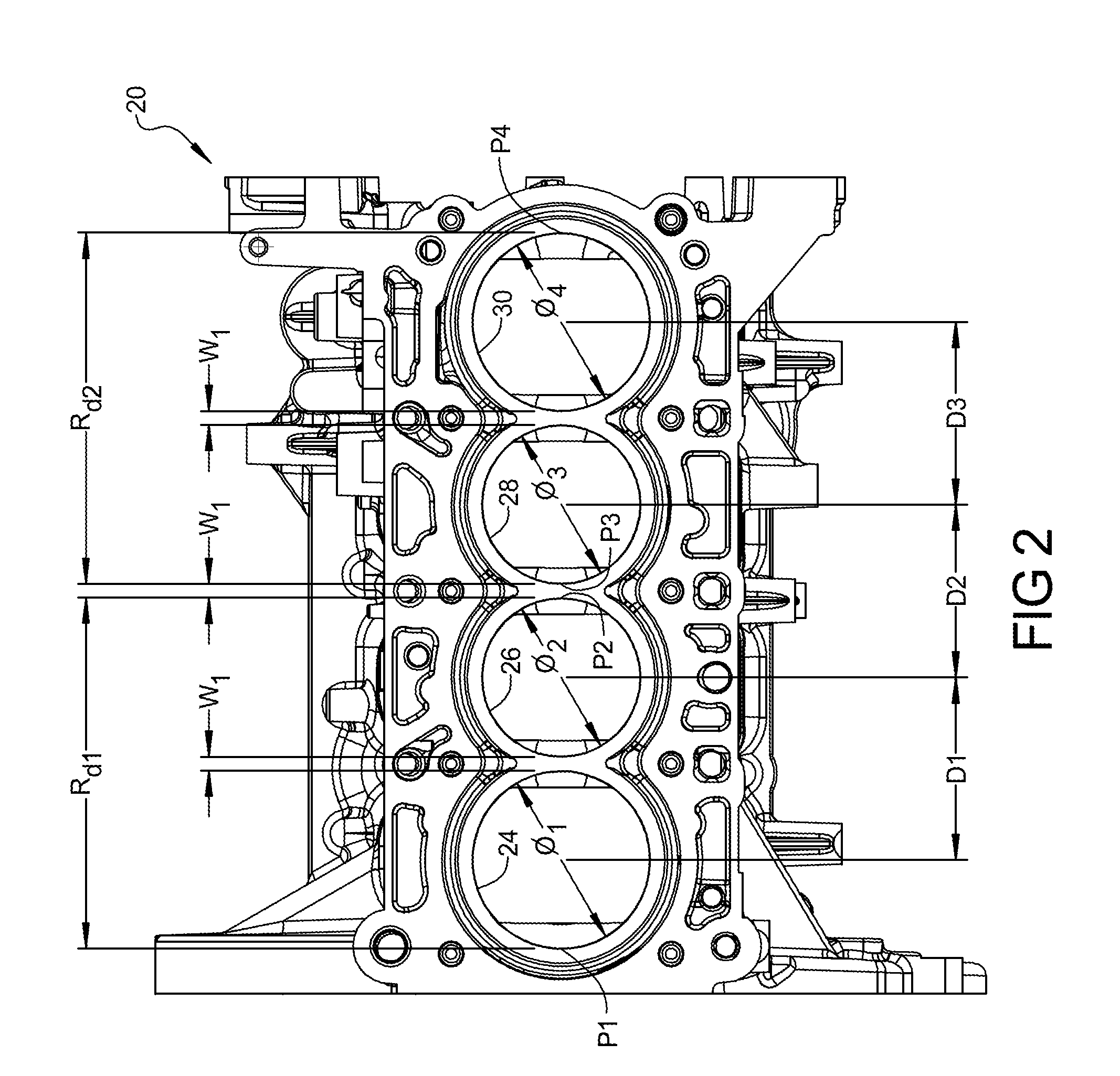 patent us20130061823 - engine assembly including multiple bore center pitch dimensions