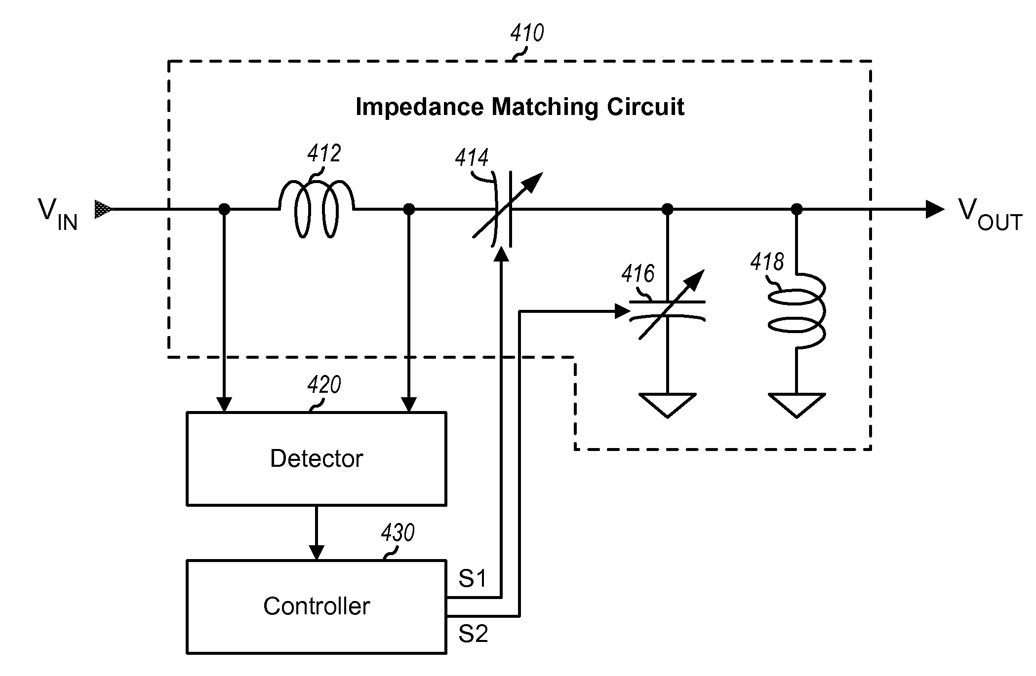 Patent Us20130063223 Impedance Matching Circuits With Multiple Figure Antenna Circuit Drawing