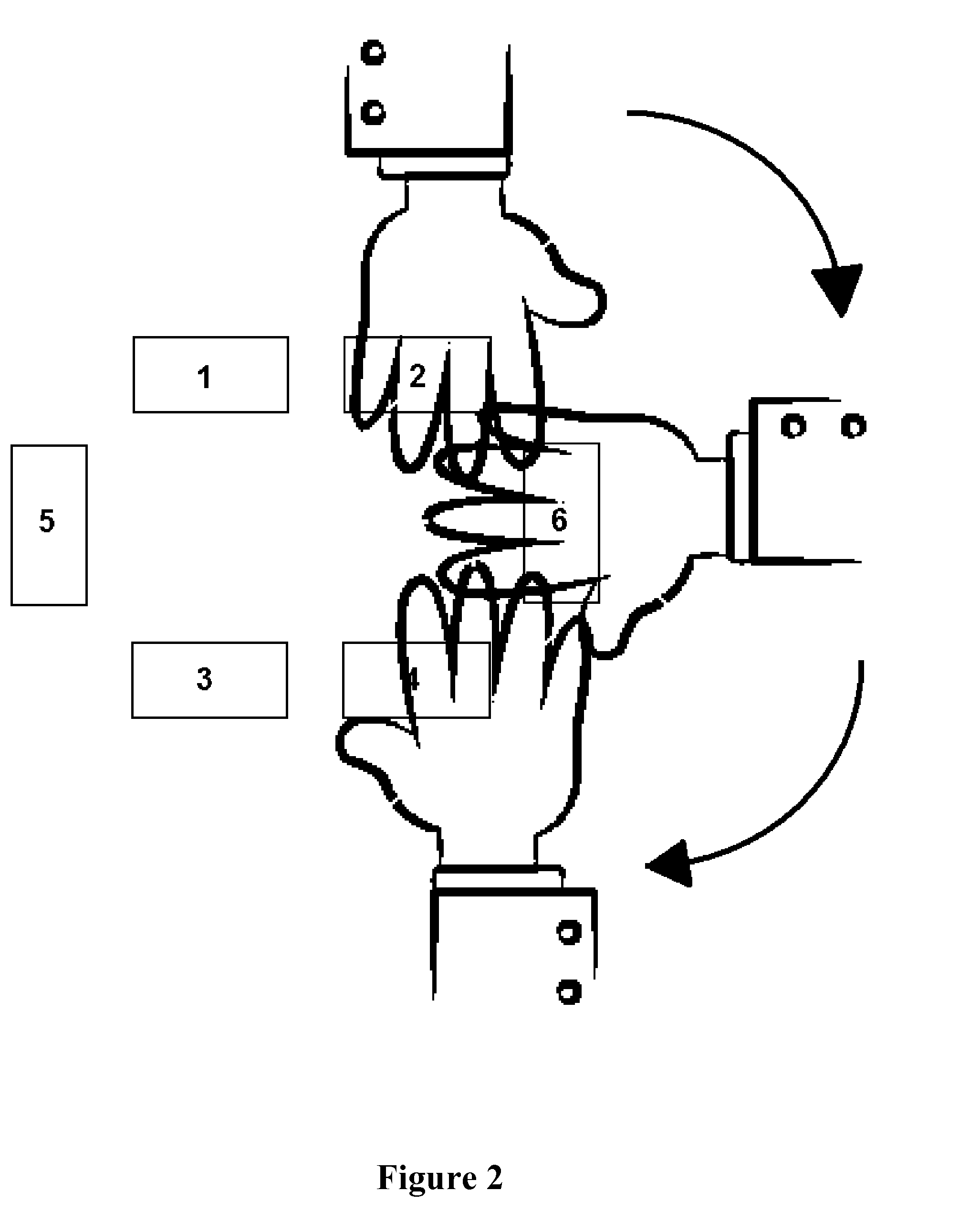 Patent Us20130155010 Capacitive Proximity Based Gesture Input Noncontact Human Interface Switch Drawing