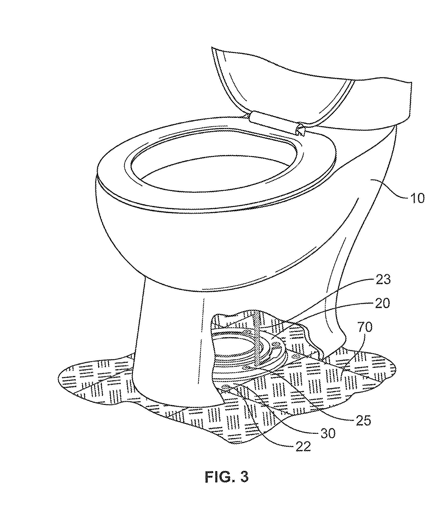 Patent Us20130219603 Toilet Closet Flange Support Kit