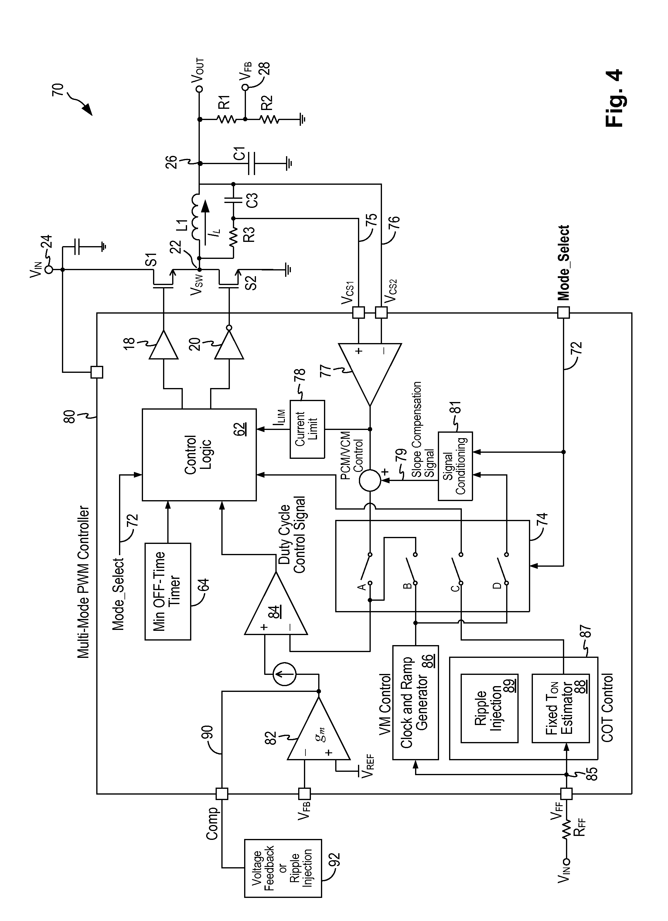 patent us20130249511 configurable multi mode pwm controller Parts of a PWM patent drawing