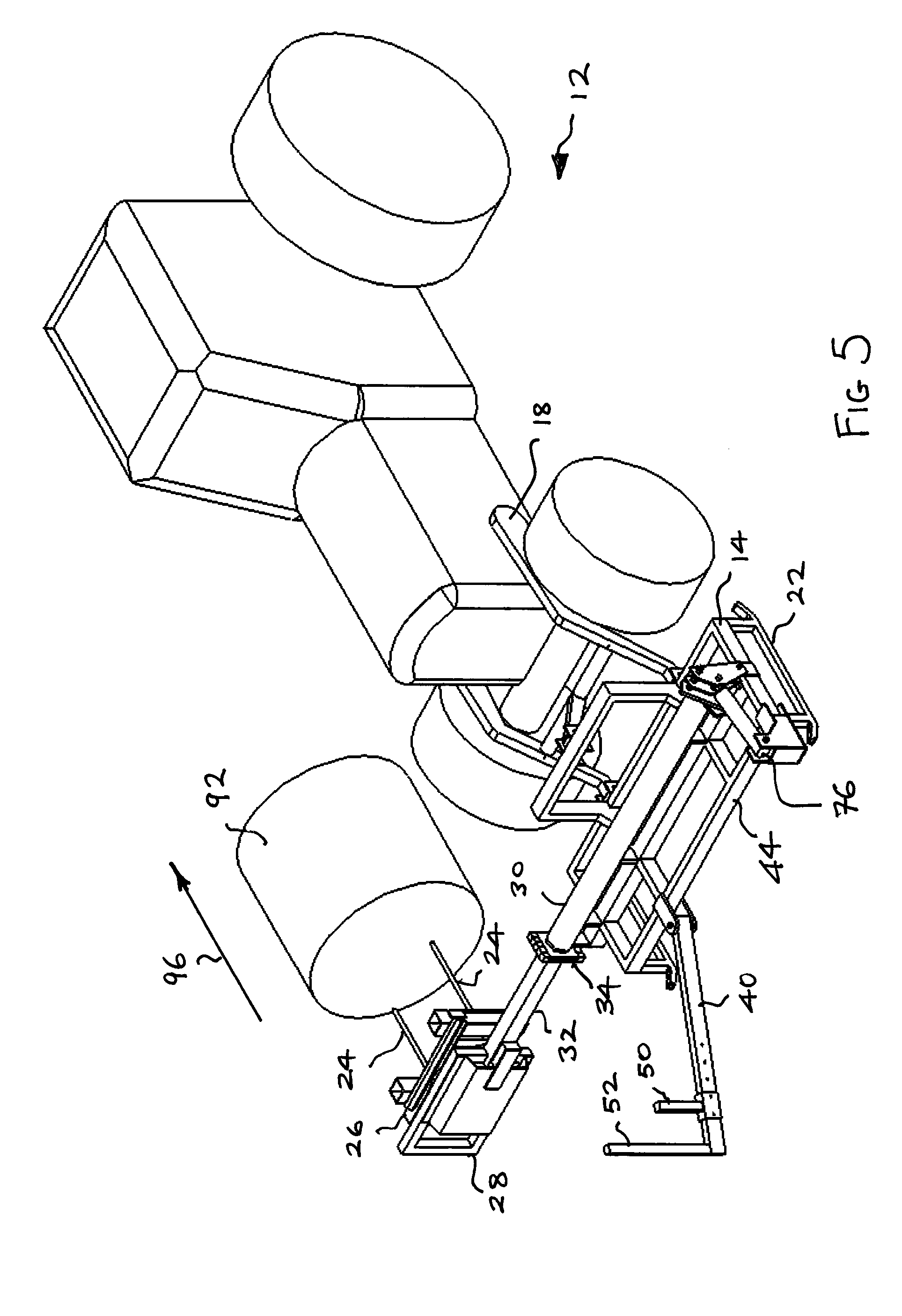 patent us20130255196 bale wrapping apparatus patents Hay Wrapper patent drawing