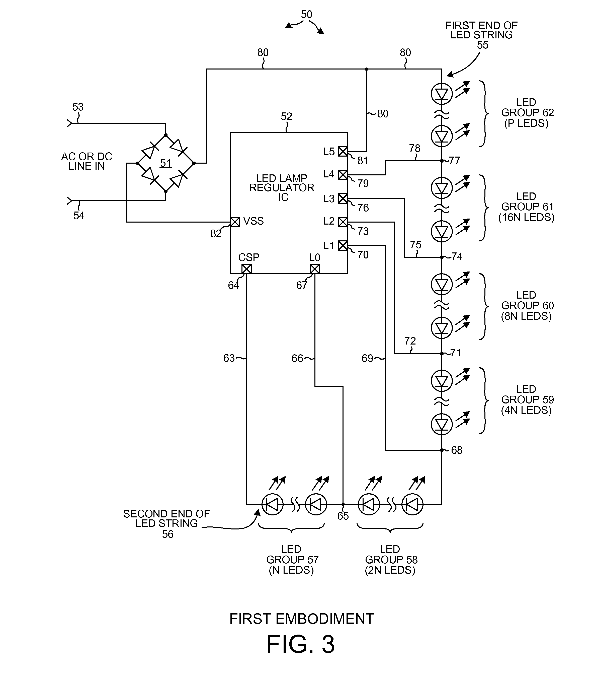 Patent Us20130293122 Reduced Flicker Ac Led Lamp With Separately 12v Furthermore Triac Dimmer Circuit Diagram On High Power Driver Drawing