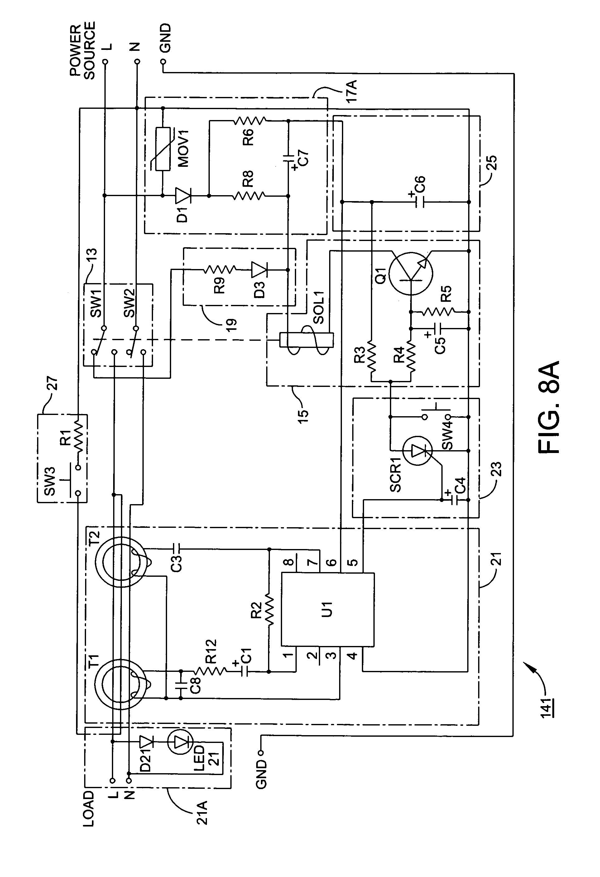 Rc Reset Circuit Diagram Powersupplycircuit Patent Us20140098446 Universal Ground Fault Interrupter Gfci Drawing