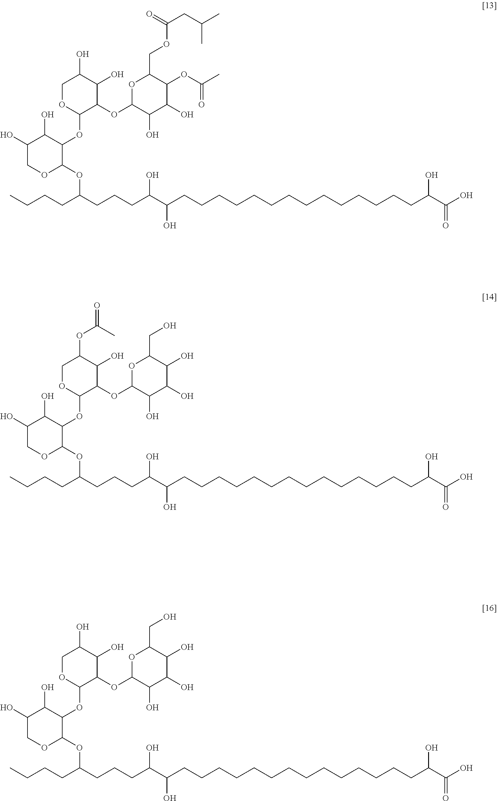 US20140178444A1 - Long chain glycolipids useful to avoid perishing ...
