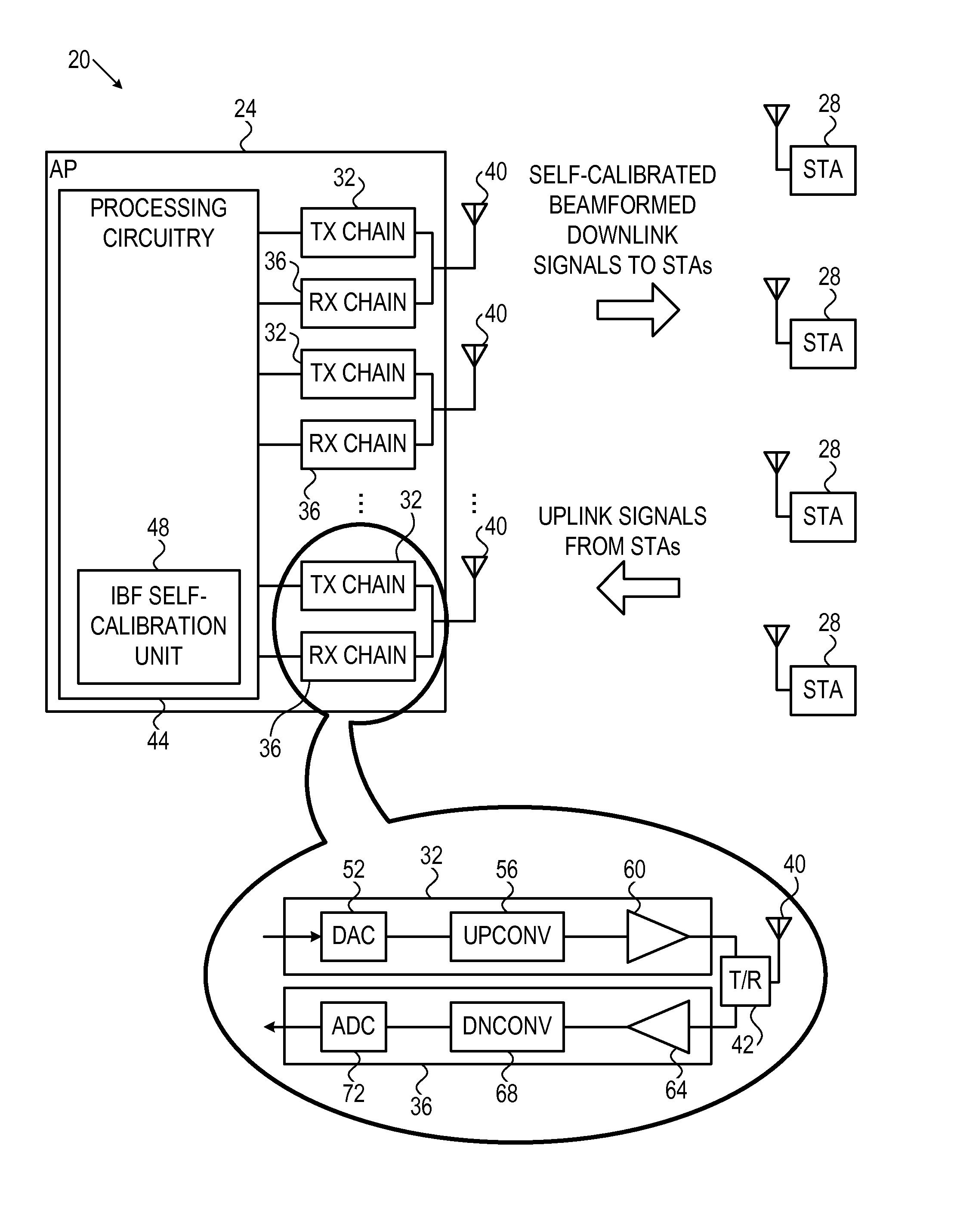 براءة الاختراع US20140269554 - Self-calibration techniques