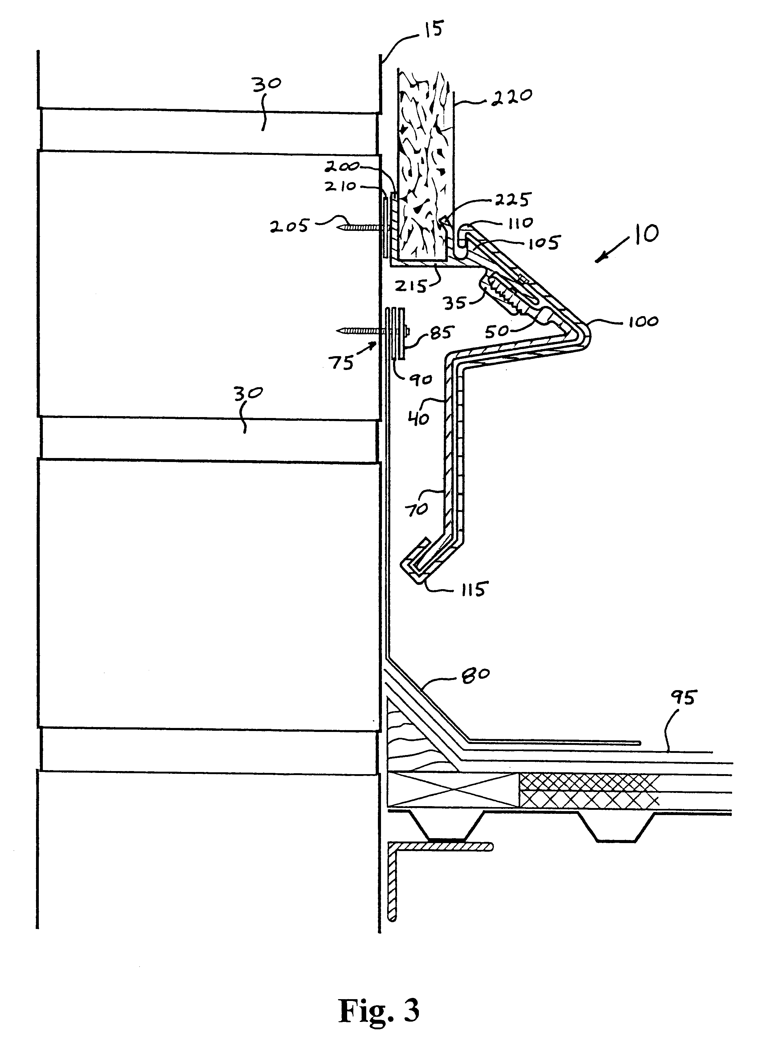 Patent Us6167660 Counter Flashing Google Patents