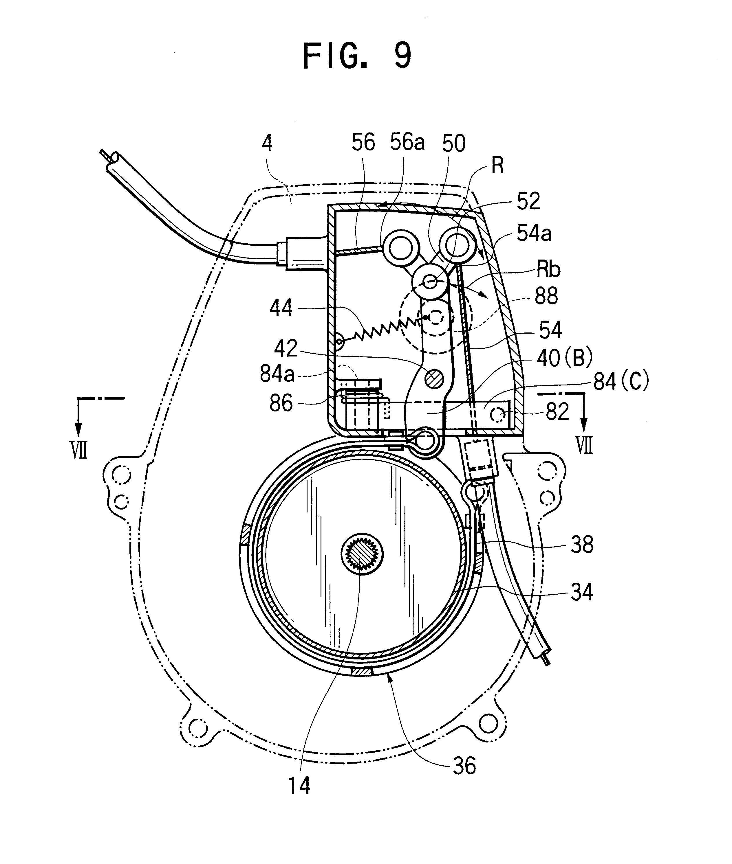 Combustion Engine Lever : Patent us trimming machine having braking device