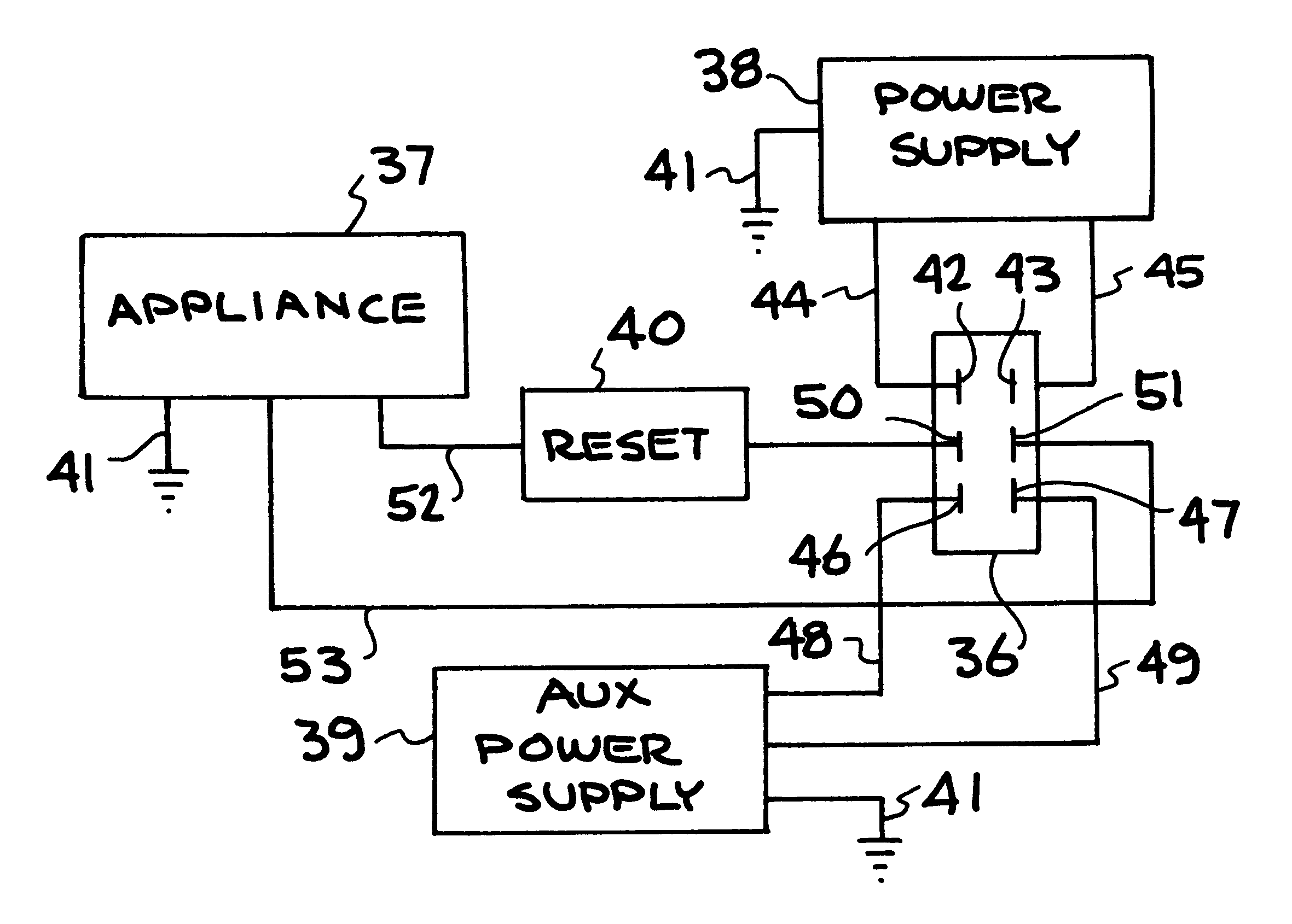 patent us6169340 - electrical junction box for auxiliary power