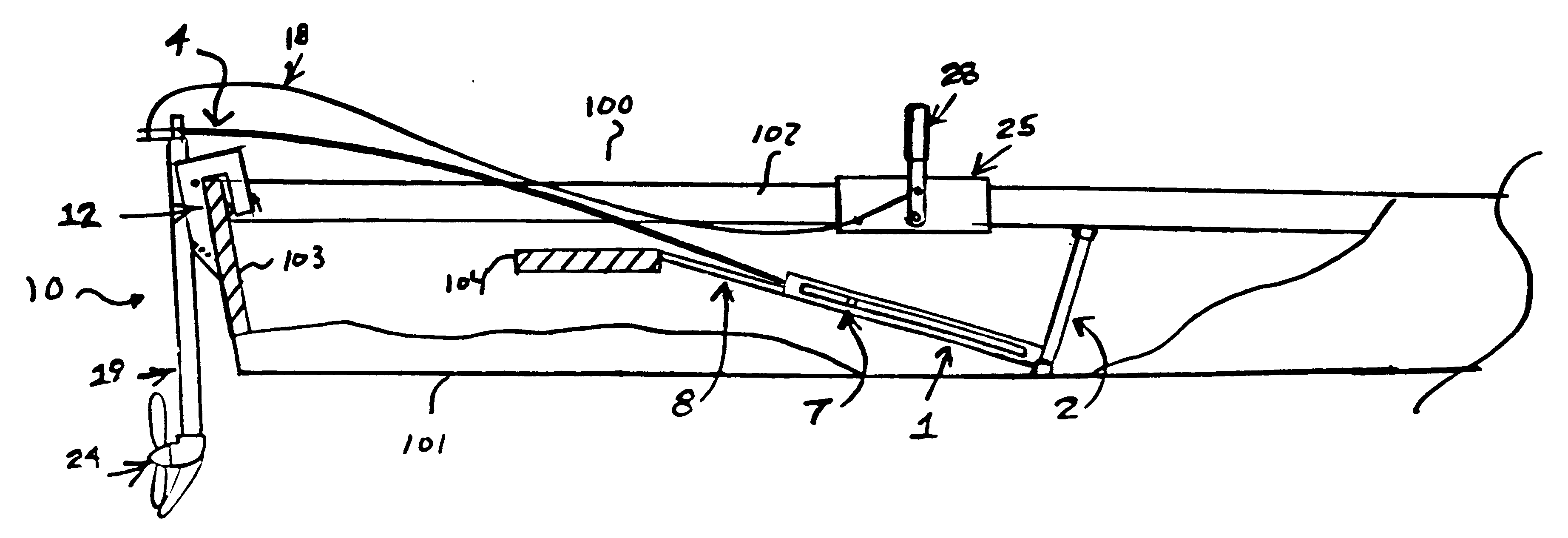 Patent Us6171157 Pedal Powered Boat Motor Google Patents