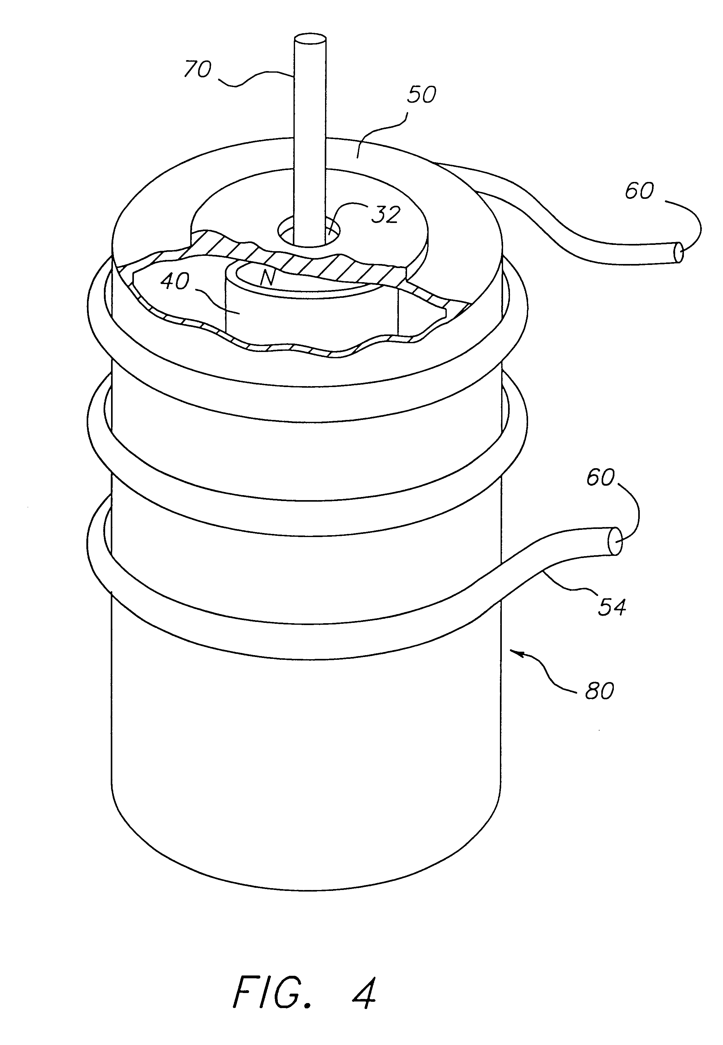 patent us6171886 method of making integrated hybrid silicon based Cylinder Magnet Poles patent drawing