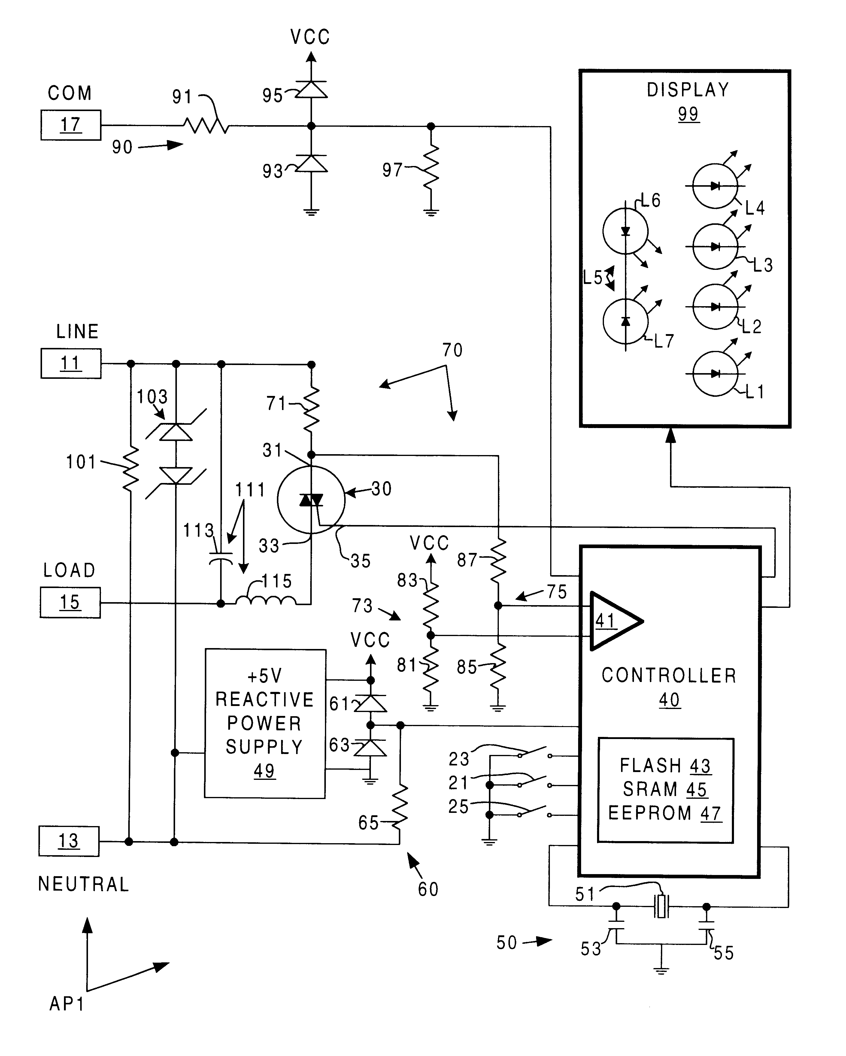 Patent Us6175220 Short Circuit Protection For Forward Phase Power Controller Drawing
