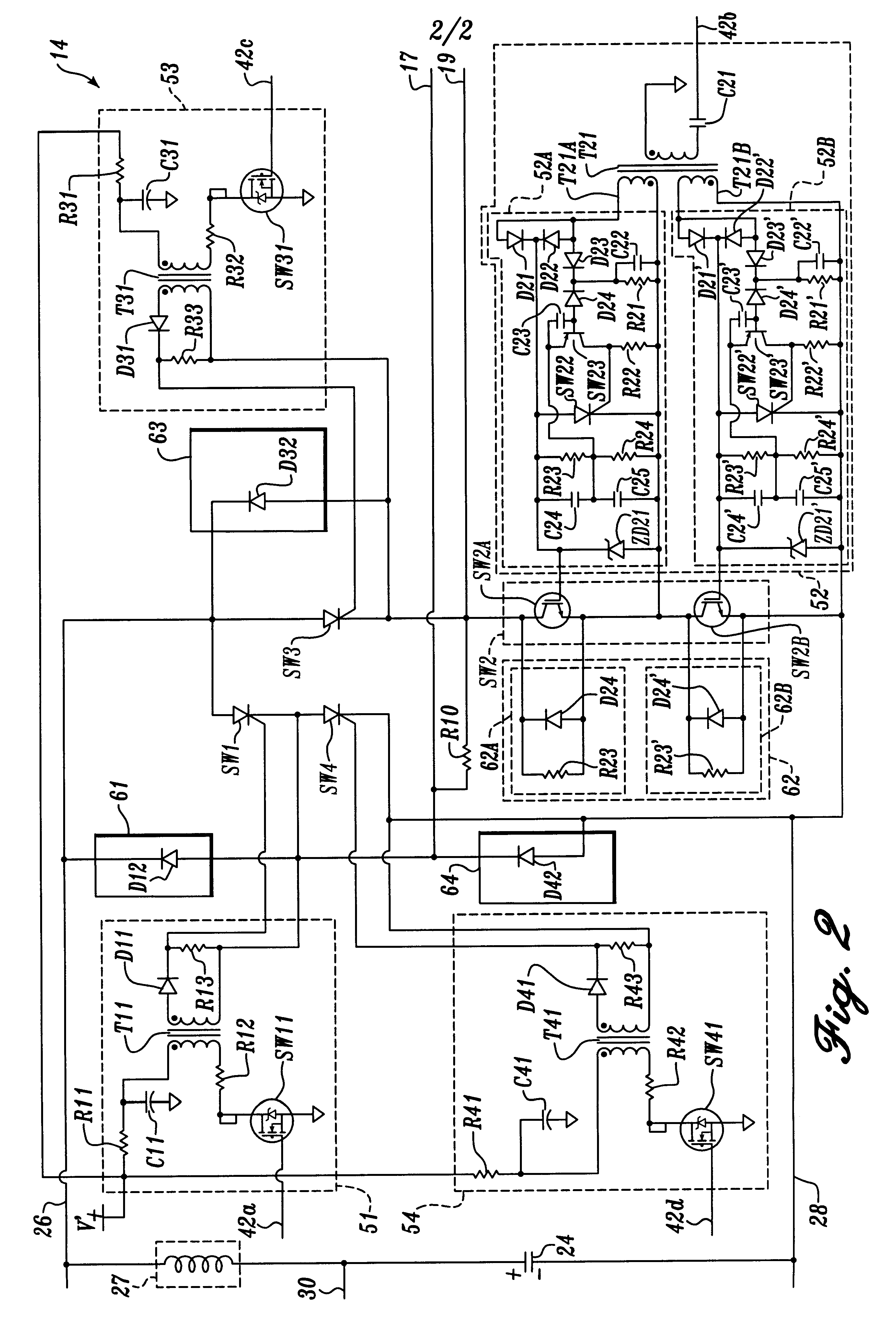 Patent Us6175765 H Bridge Circuit For Generating A High Energy Rc Charging Stored And Dissipated Waveforms Drawing